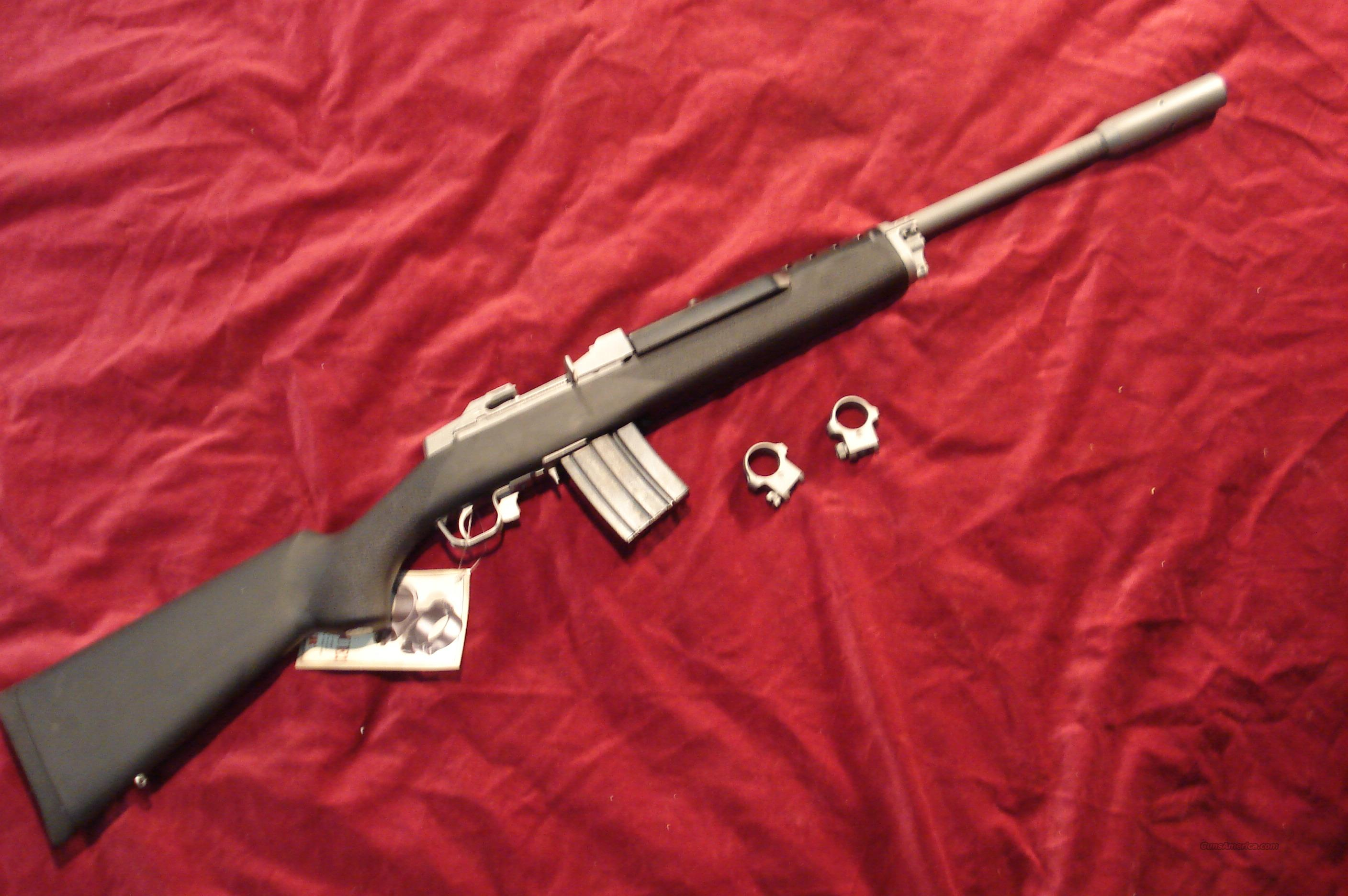 RUGER  STAINLESS MINI 14T TARGET RIFLE W/HOGUE STOCK 20 ROUND NEW  Guns > Rifles > Ruger Rifles > Mini-14 Type