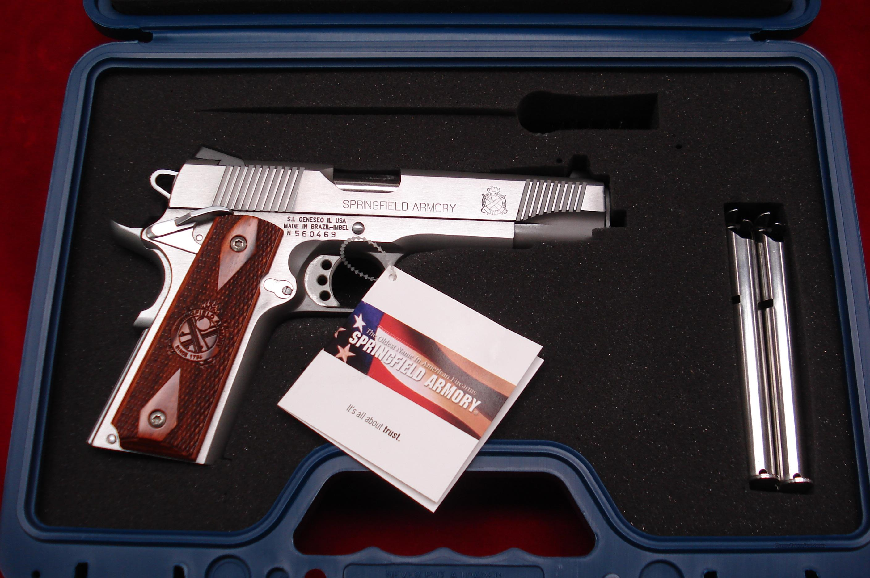 SPRINGFIELD ARMORY STAINLESS 1911 A1 LOADED 45 ACP NEW (PX9151LP)  Guns > Pistols > Springfield Armory Pistols > 1911 Type
