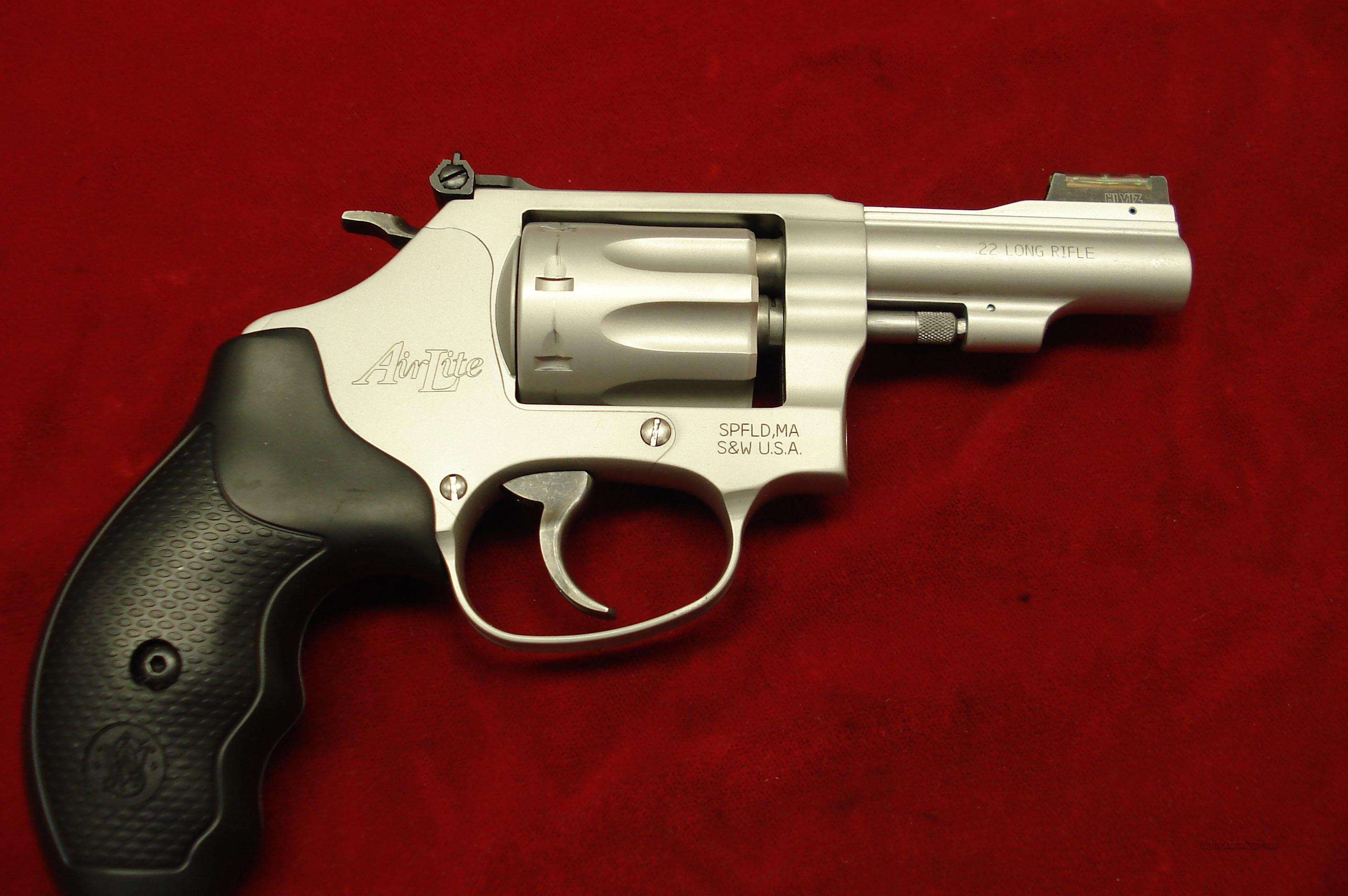 "SMITH AND WESSON 317 AIRLITE 3"" 22LR NEW  Guns > Pistols > Smith & Wesson Revolvers > Pocket Pistols"