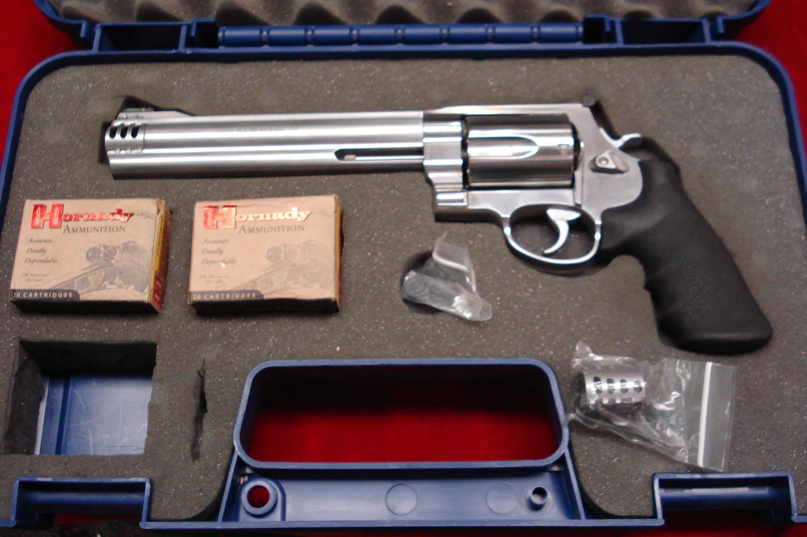 "SMITH AND WESSON 460XVR STAINLESS 460S&W CAL. 8 3/8"" WHITETAILS UNLIMITED  LNIB  Guns > Pistols > Smith & Wesson Revolvers > Full Frame Revolver"