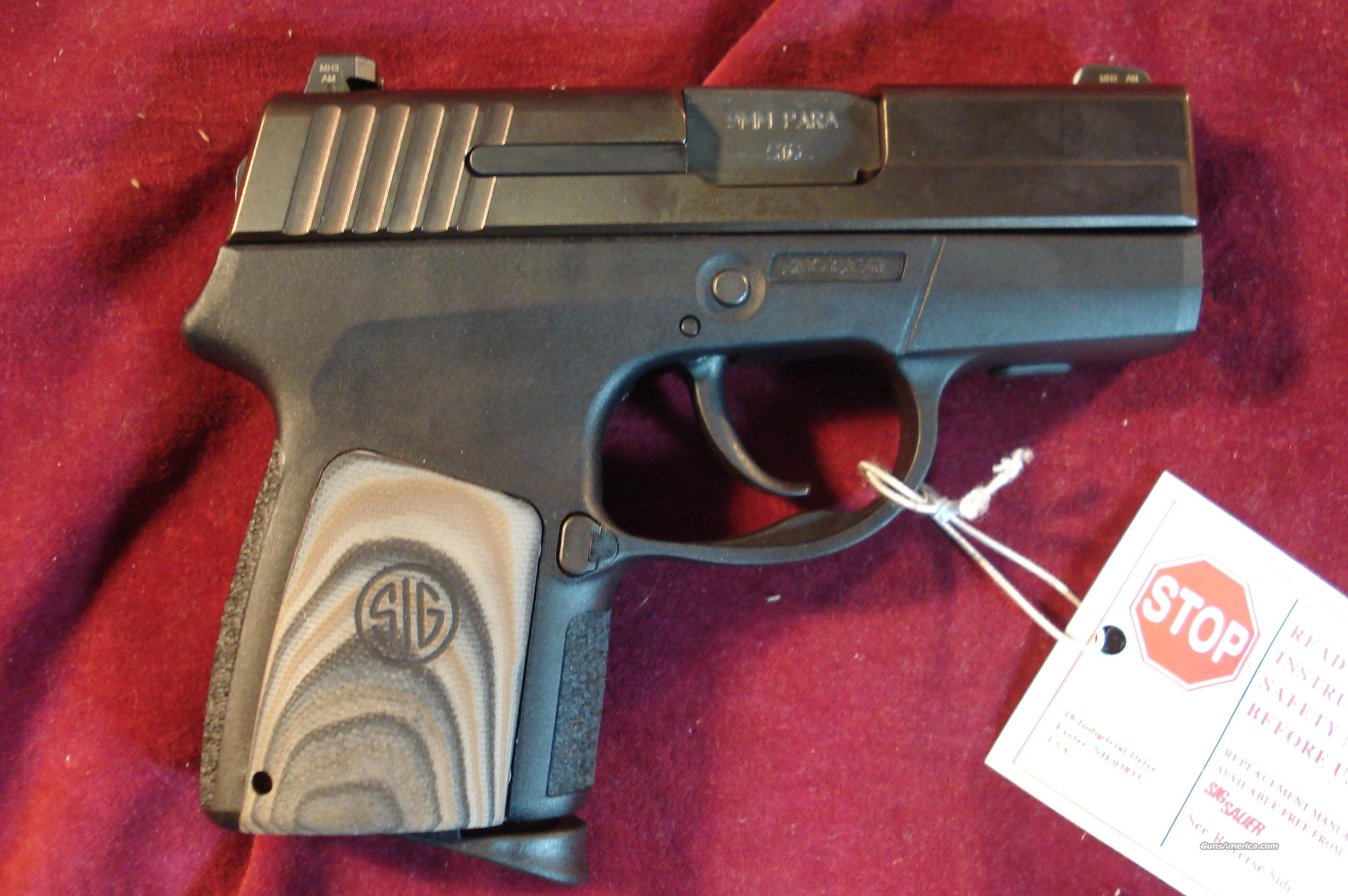 "SIG SAUER 290 CONCEALED CARRY ""RESTRIKE"" 9MM NIGHT SIGHTS W/ HOLSTER NEW  Guns > Pistols > Sig - Sauer/Sigarms Pistols > Other"