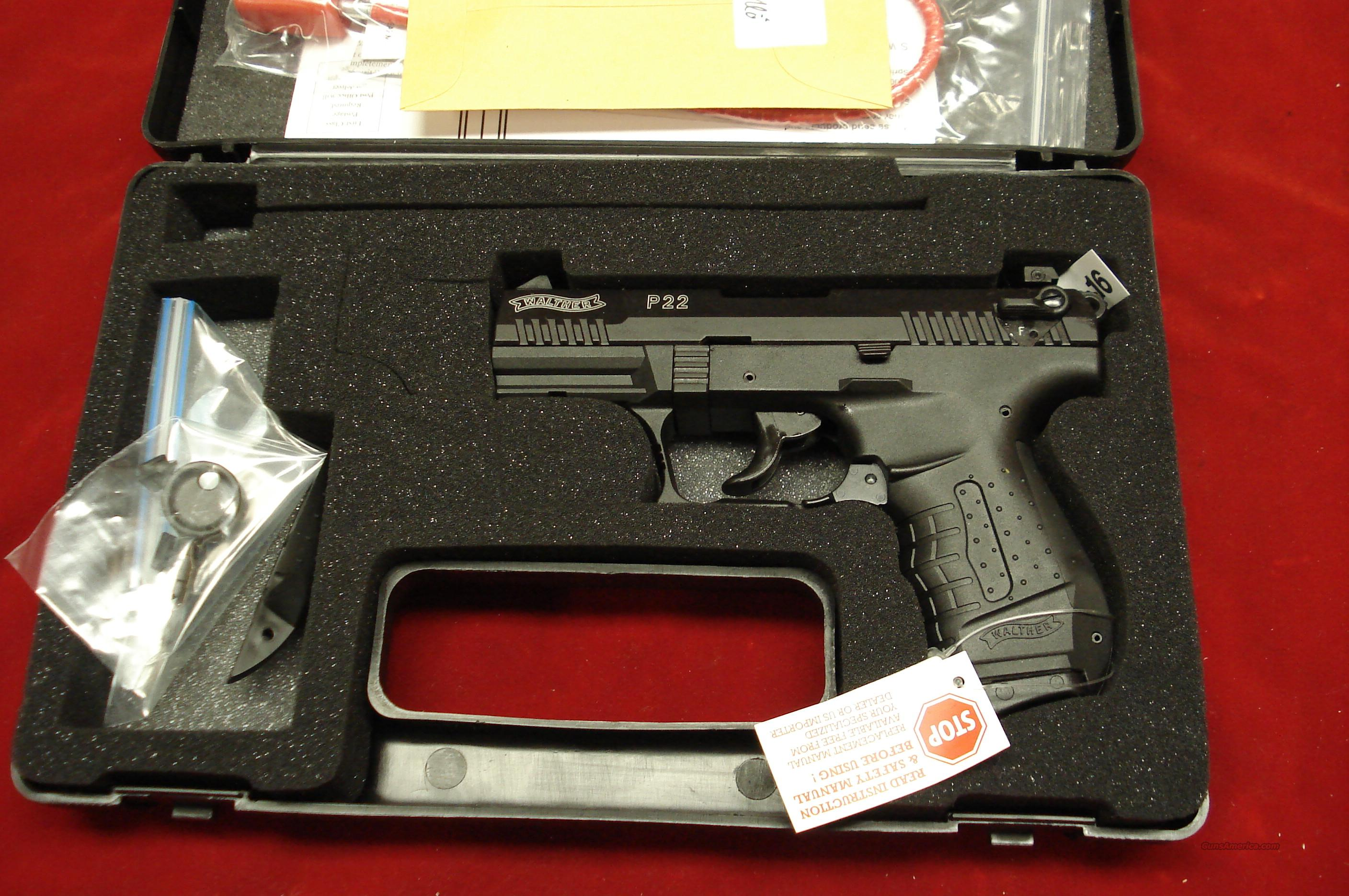 "WALTHER P22 3.42"" NEW  Guns > Pistols > Walther Pistols > Post WWII > Target Pistols"