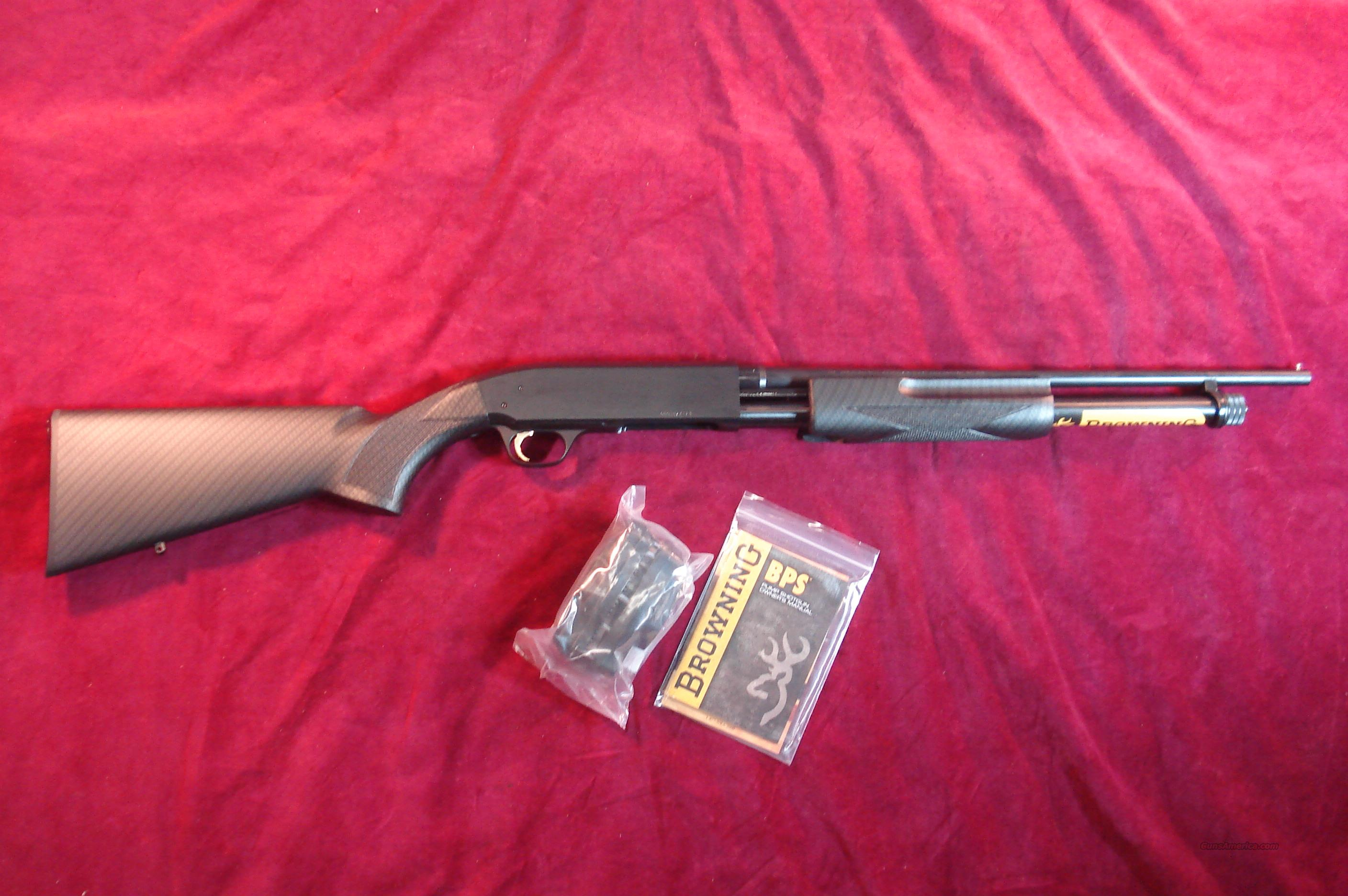 BROWNING BPS 410G SYHTHETIC CARBON FIBER FINISH  WITH EXTENDED MAGAZINE TUBE NEW  Guns > Shotguns > Browning Shotguns > Pump Action > Hunting