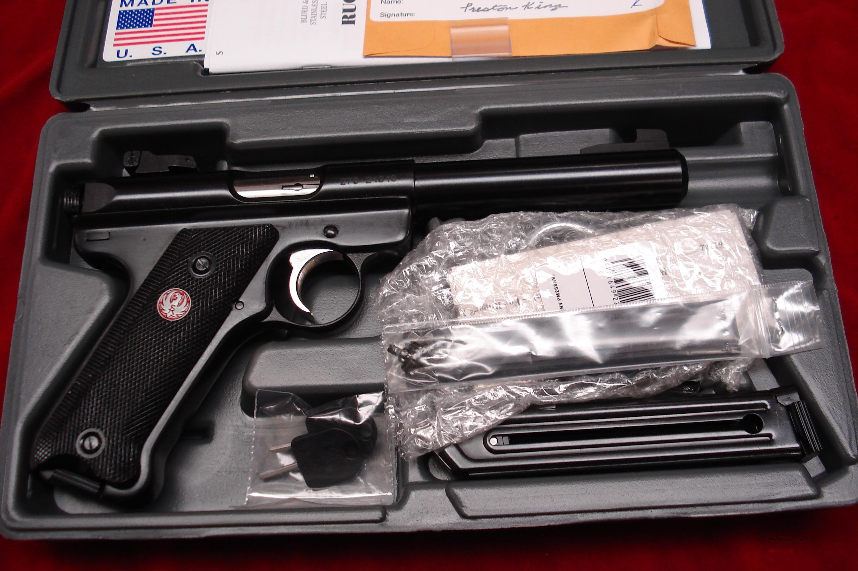 "RUGER  MKIII  5.5""  BULL BARREL BLUE NEW (MKIII512)  Guns > Pistols > Ruger Semi-Auto Pistols > Mark I & II Family"