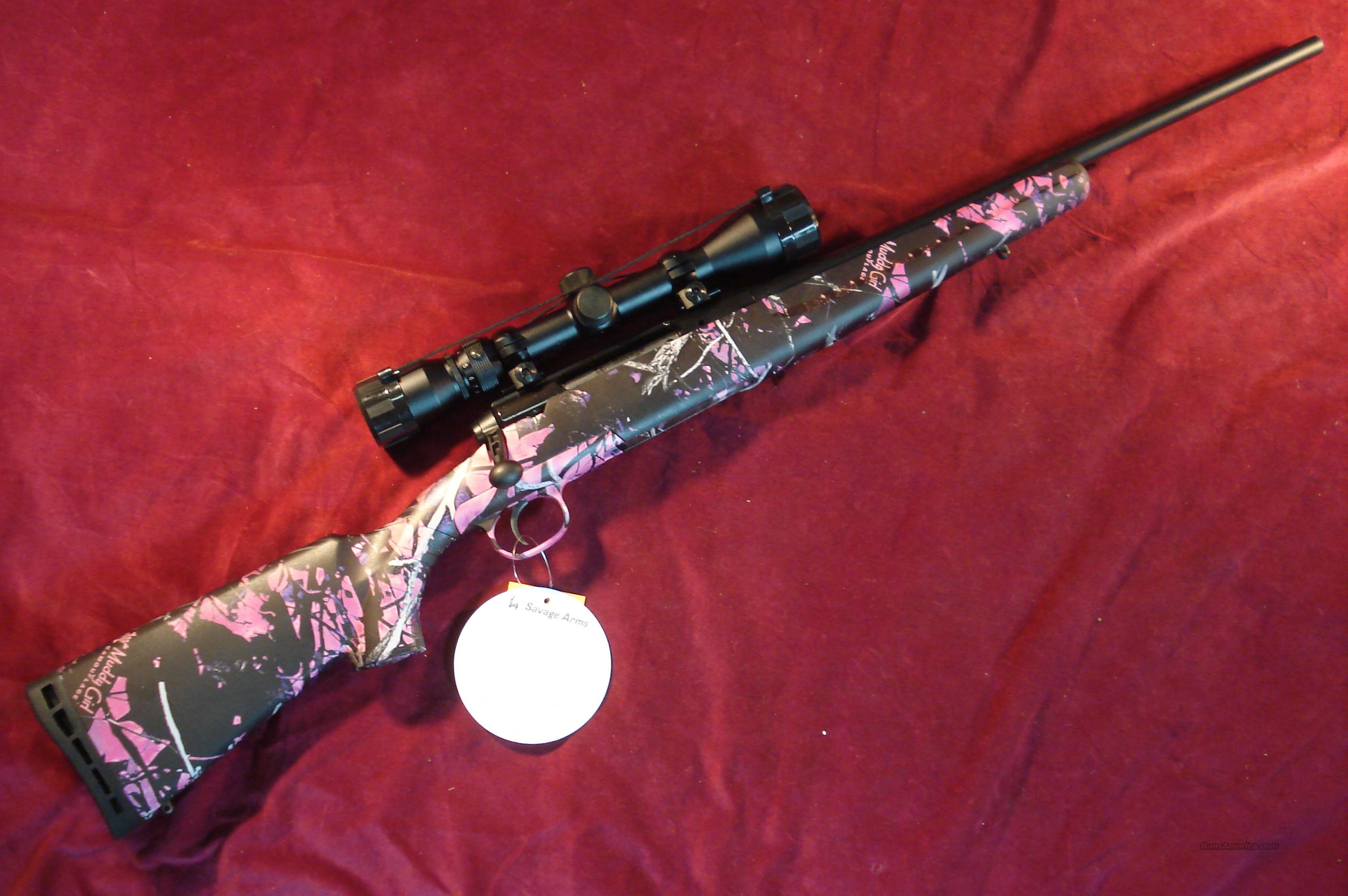 SAVAGE AXIS XP YOUTH 223 CAL MUDDY GIRL CAMO NEW (19975)   Guns > Rifles > Savage Rifles > Standard Bolt Action > Sporting