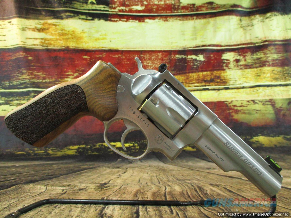 "Ruger GP100 Match Champion 10MM Stainless 4.2"" Excellent Used Cond (66955)  Guns > Pistols > Ruger Double Action Revolver > GP100"