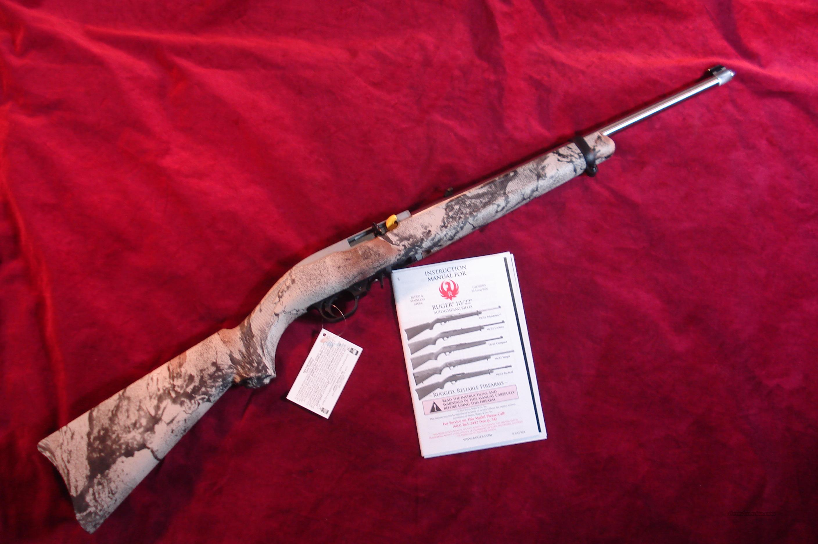 RUGER 10/22 STAINLESS NATURAL GEAR CAMO NEW (K10/22RPCANG)  Guns > Rifles > Ruger Rifles > 10-22