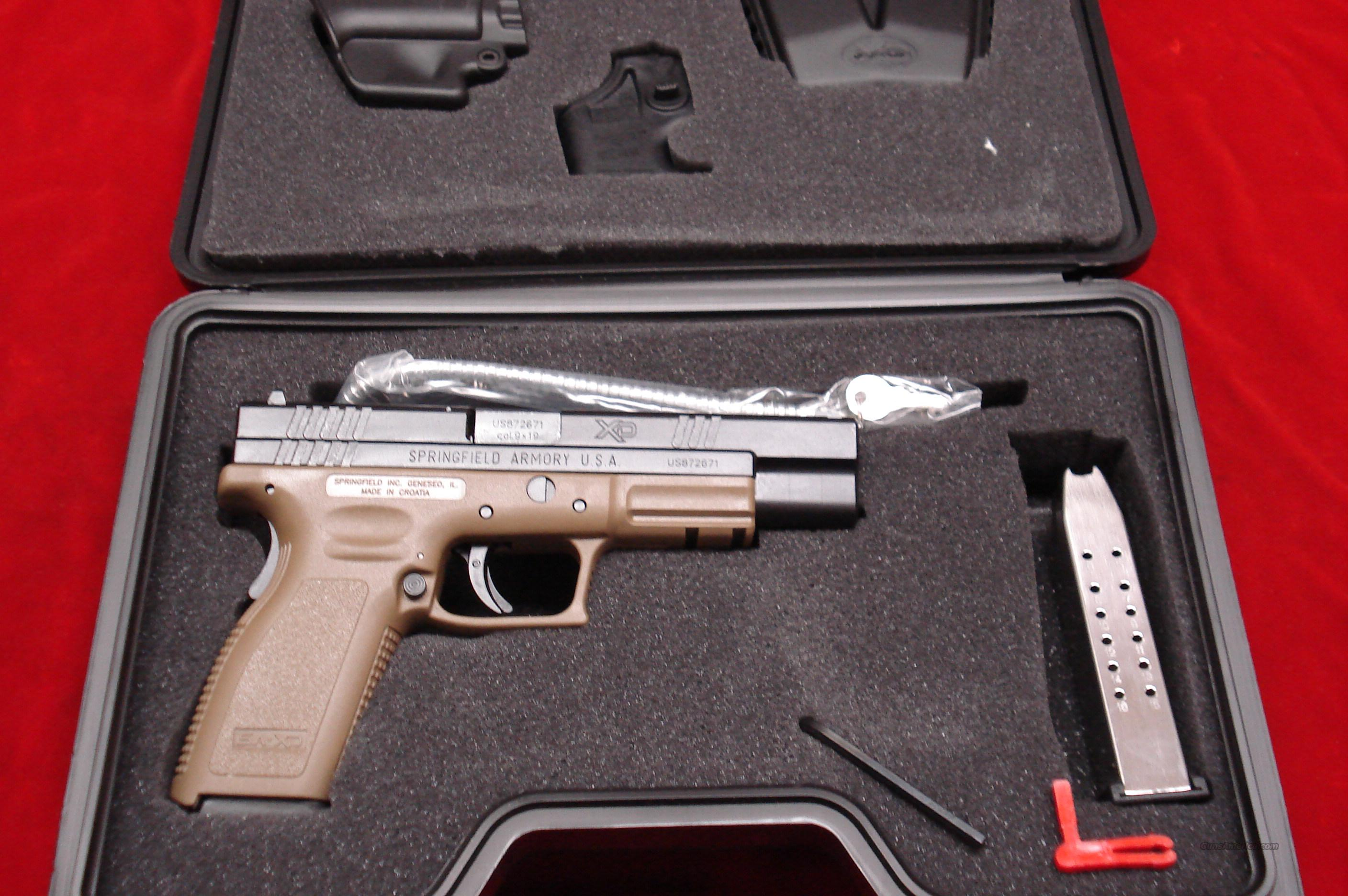 SPRINGFIELD ARMORY XD 9MM DARK EARTH HIGH CAPACITY TACTICAL PACKAGE NEW  Guns > Pistols > Springfield Armory Pistols > XD (eXtreme Duty)