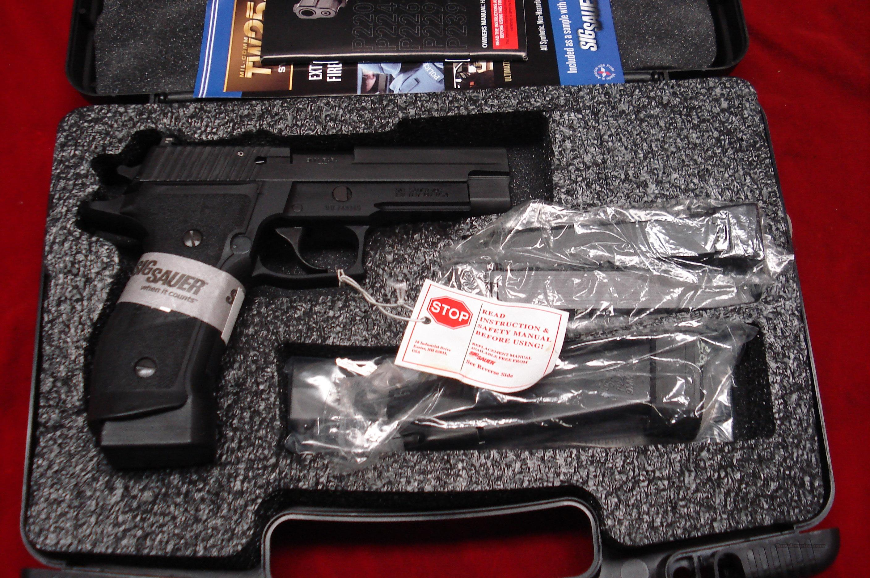 SIG SAUER P226 TAC OPS 9MM WITH FOUR 20 ROUND  MAGAZINES NEW  Guns > Pistols > Sig - Sauer/Sigarms Pistols > P226