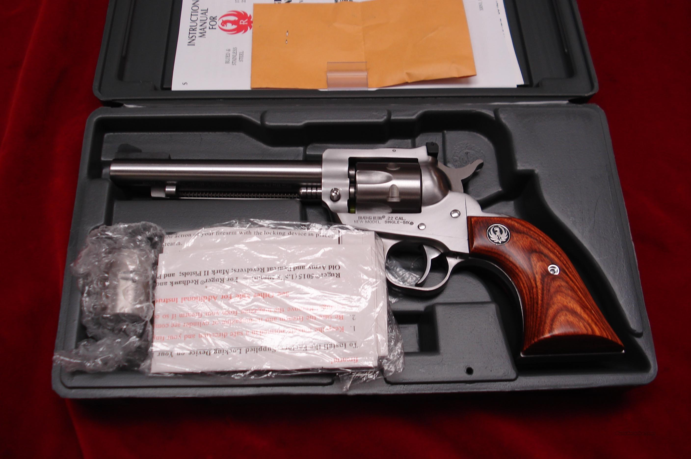 "RUGER SUPER SINGLE-SIX 5.5"" STAINLESS NEW (KNR-5)  Guns > Pistols > Ruger Single Action Revolvers > Single Six Type"