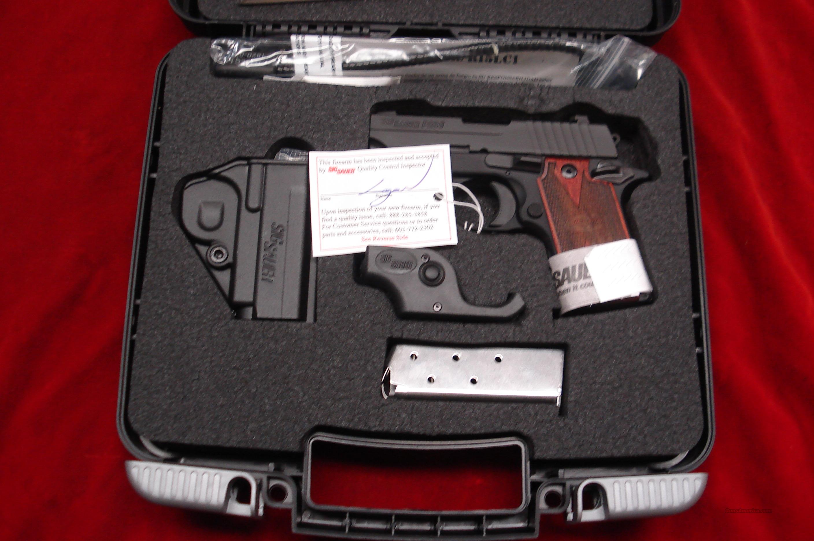 SIG P238 380CAL. W/FACTORY LASER,NIGHT SIGHTS AND ROSEWOOD GRIPS NEW   Guns > Pistols > Sig - Sauer/Sigarms Pistols > P238