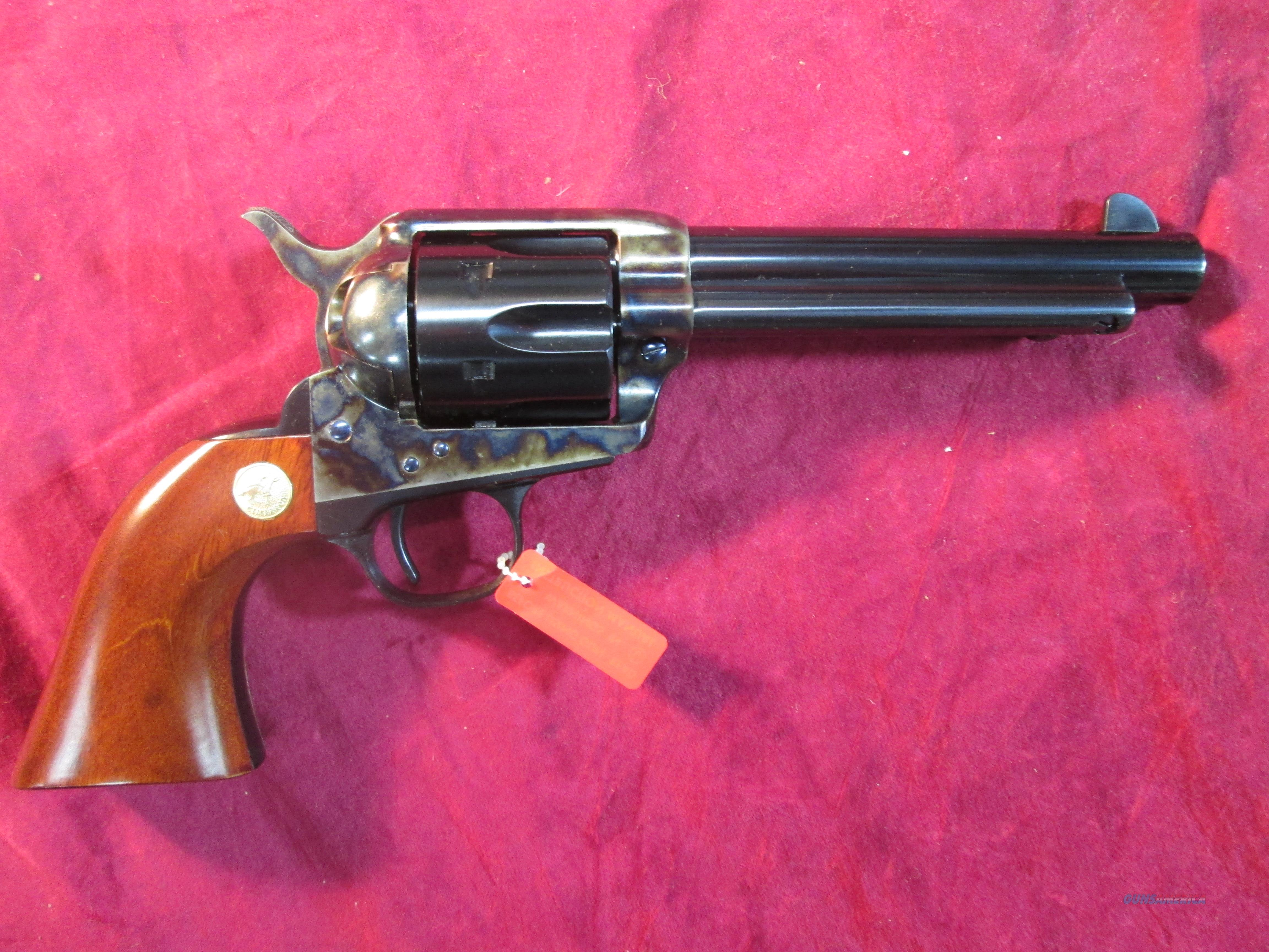 "CIMARRON MODEL P PRE WAR SINGLE ACTION ARMY REPLICA 45 COLT 5.5"" CASE COLOR NEW (MP411)  Guns > Pistols > Cimmaron Pistols"