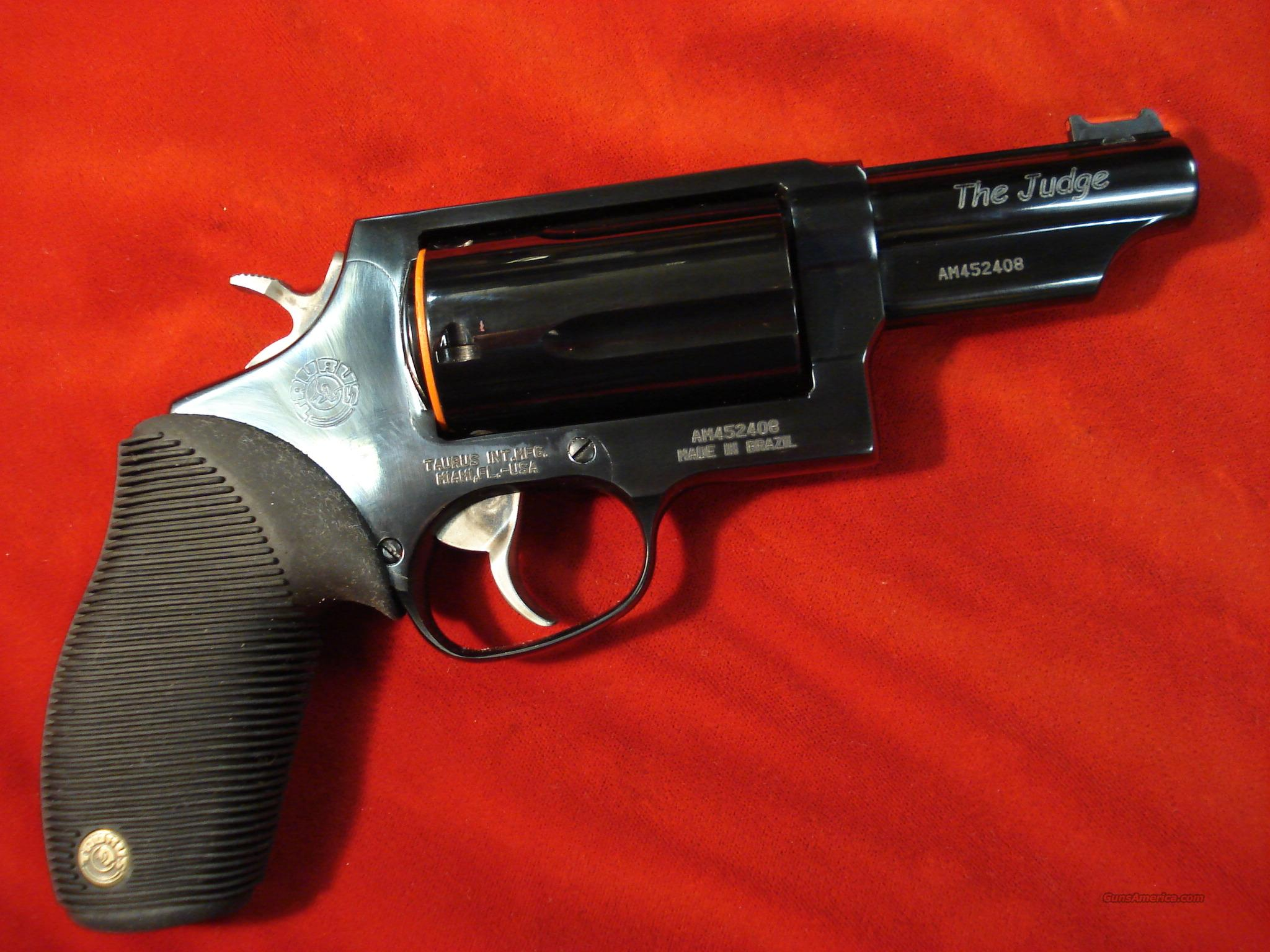 "TAURUS 4510 TRACKER 410G REVOLVER "" THE JUDGE "" POLISHED 3"" BLUE NEW    Guns > Pistols > Taurus Pistols/Revolvers > Revolvers"
