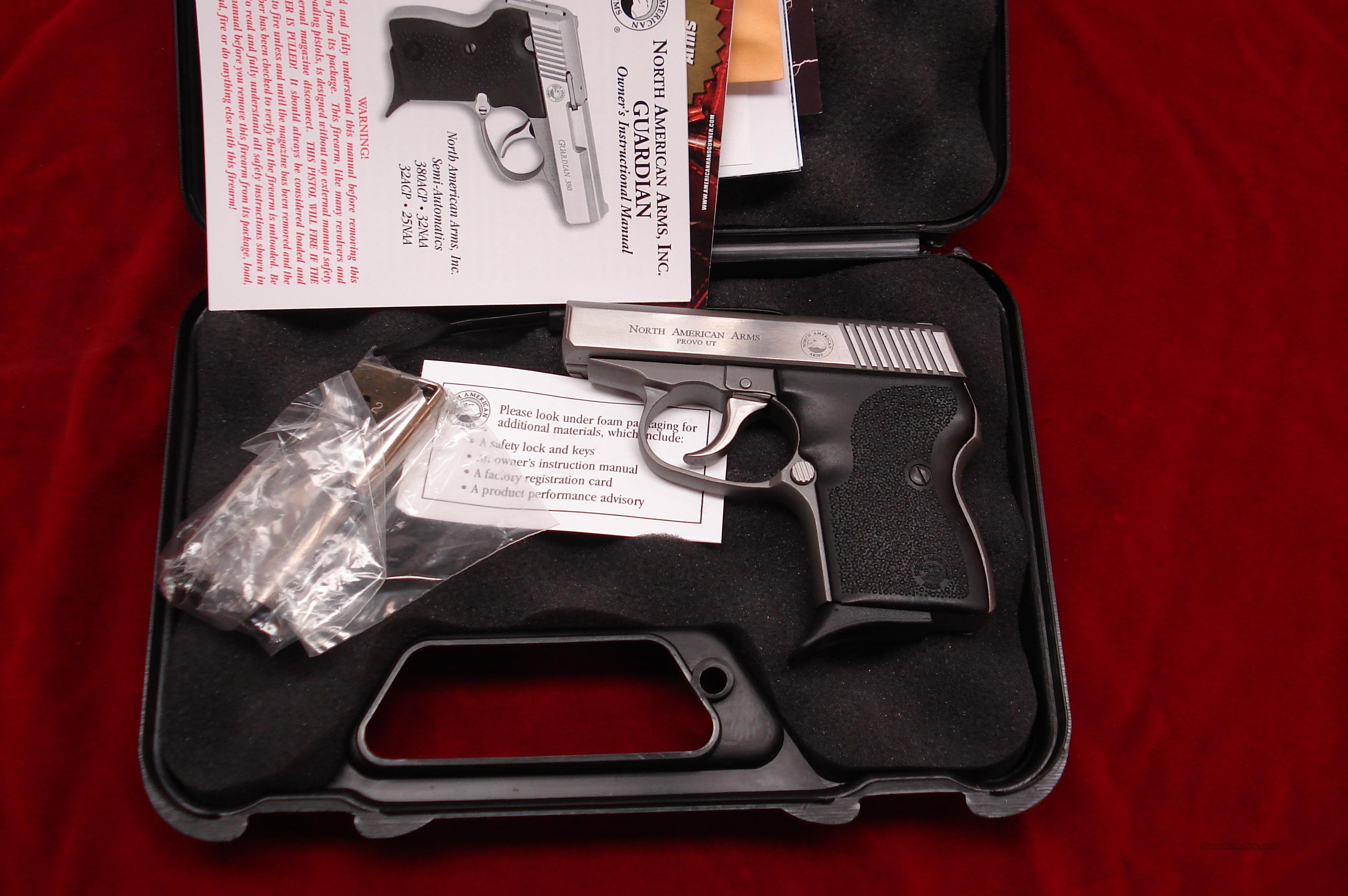 NORTH AMERICAN ARMS GUARDIAN 380 CAL. NEW  Guns > Pistols > North American Arms Pistols