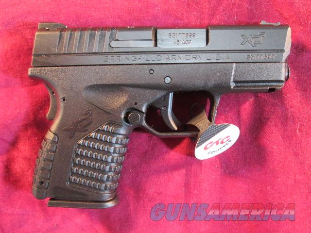 SPRINGFIELD ARMORY XDS 45ACP BLACK W/ CRIMSON TRACE LASER AND HOLSTER NEW  Guns > Pistols > Springfield Armory Pistols > XD-S