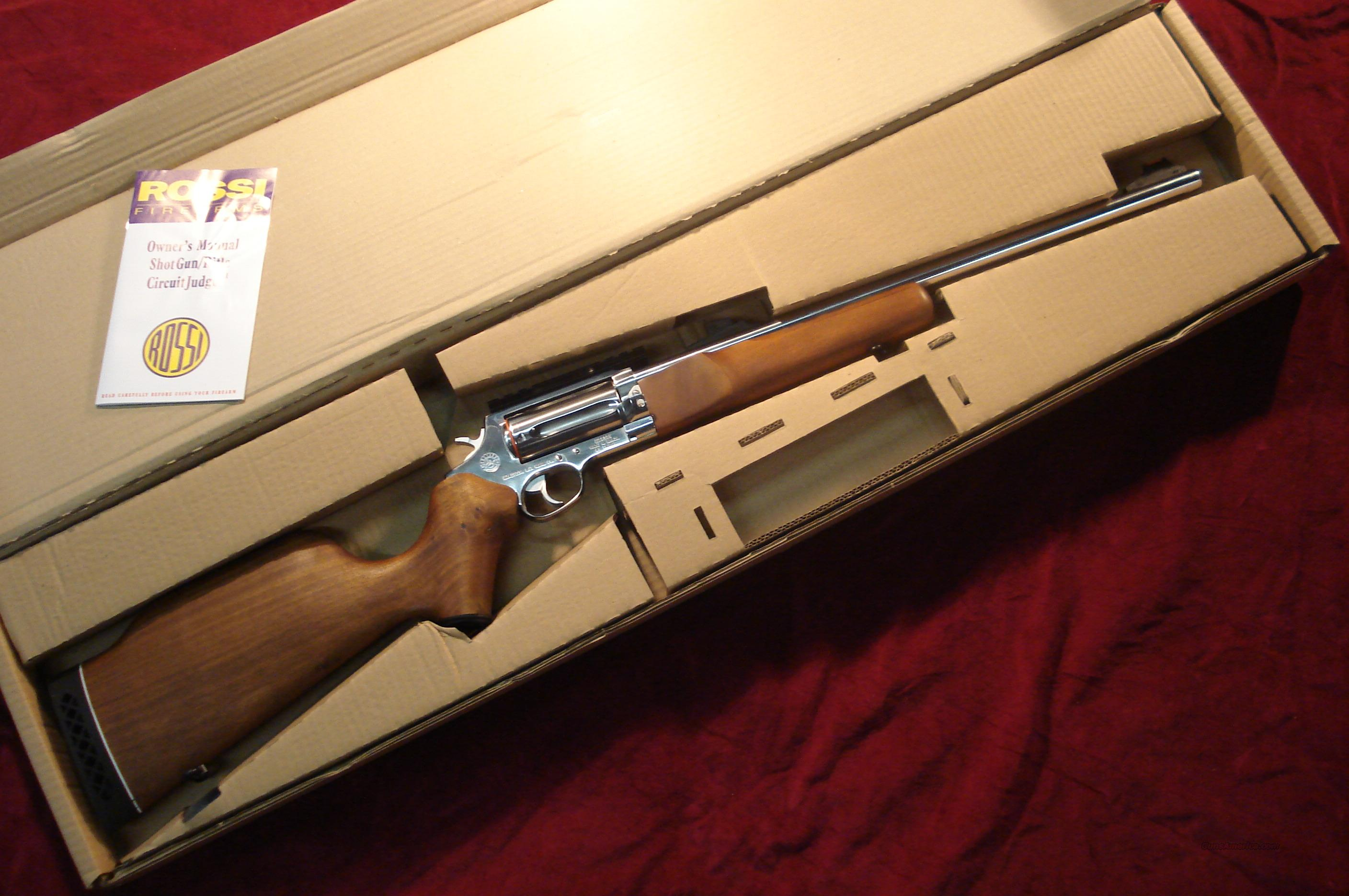 ROSSI STAINLESS CIRCUIT JUDGE 45COLT/410G NEW  Guns > Rifles > Rossi Rifles > Cowboy
