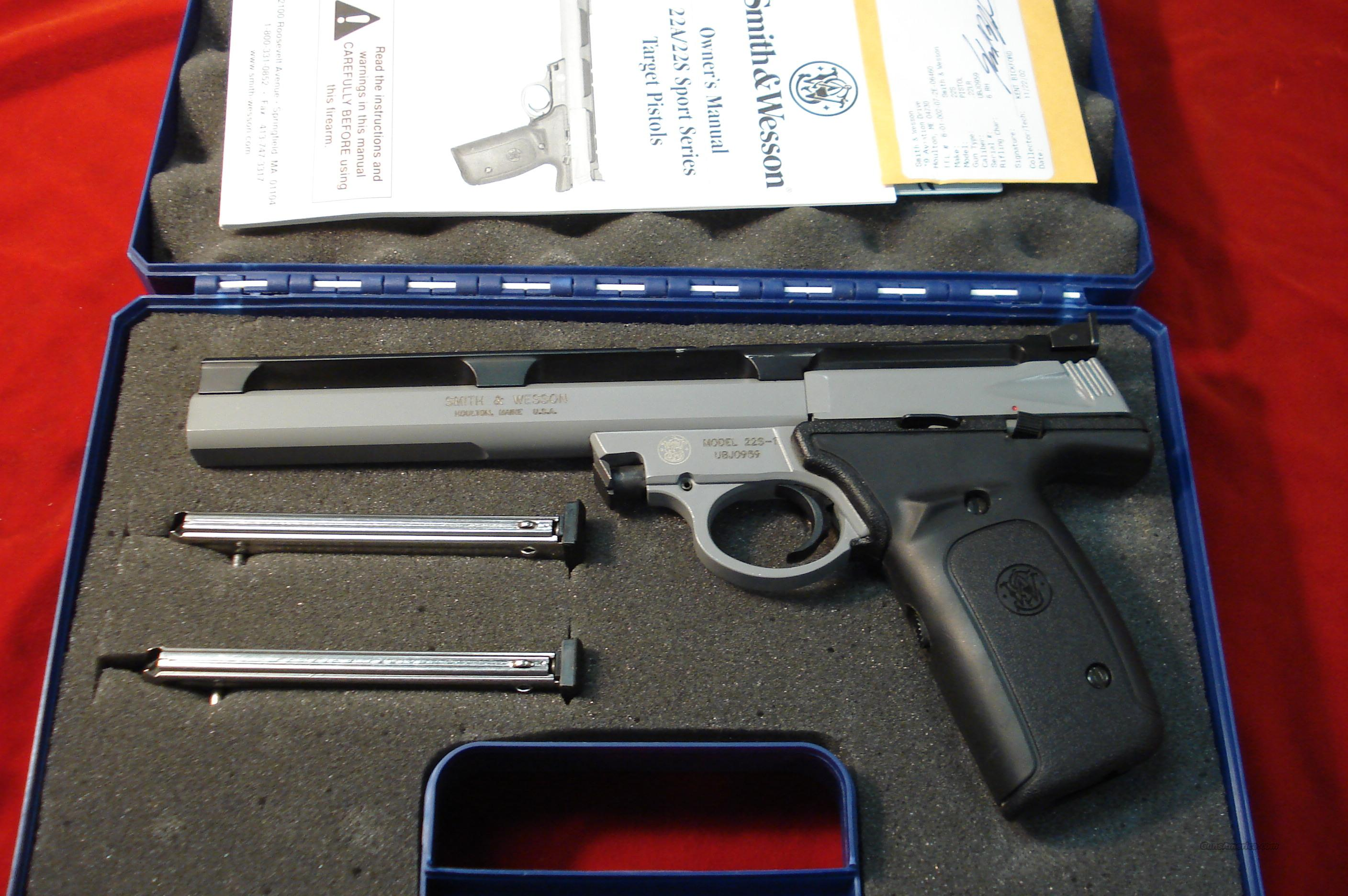 "SMITH AND WESSON 22S 22LR. 7"" LNIB  Guns > Pistols > Smith & Wesson Pistols - Autos > Steel Frame"