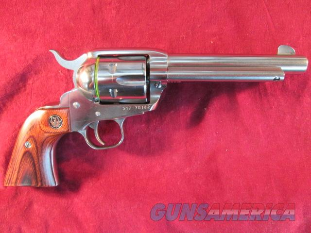"""RUGER POLISHED STAINLESS VAQUERO 357CAL. 5.5"""" NEW (KNV-35) (05108)  Guns > Pistols > Ruger Single Action Revolvers > Cowboy Action"""