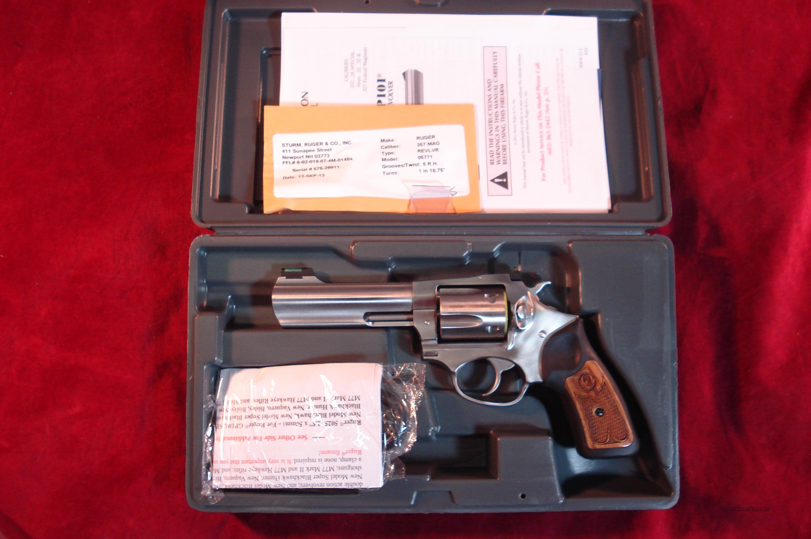 RUGER SP101 STAINLESS 5 SHOT 357 MAG NEW   (05771)   Guns > Pistols > Ruger Double Action Revolver > SP101 Type