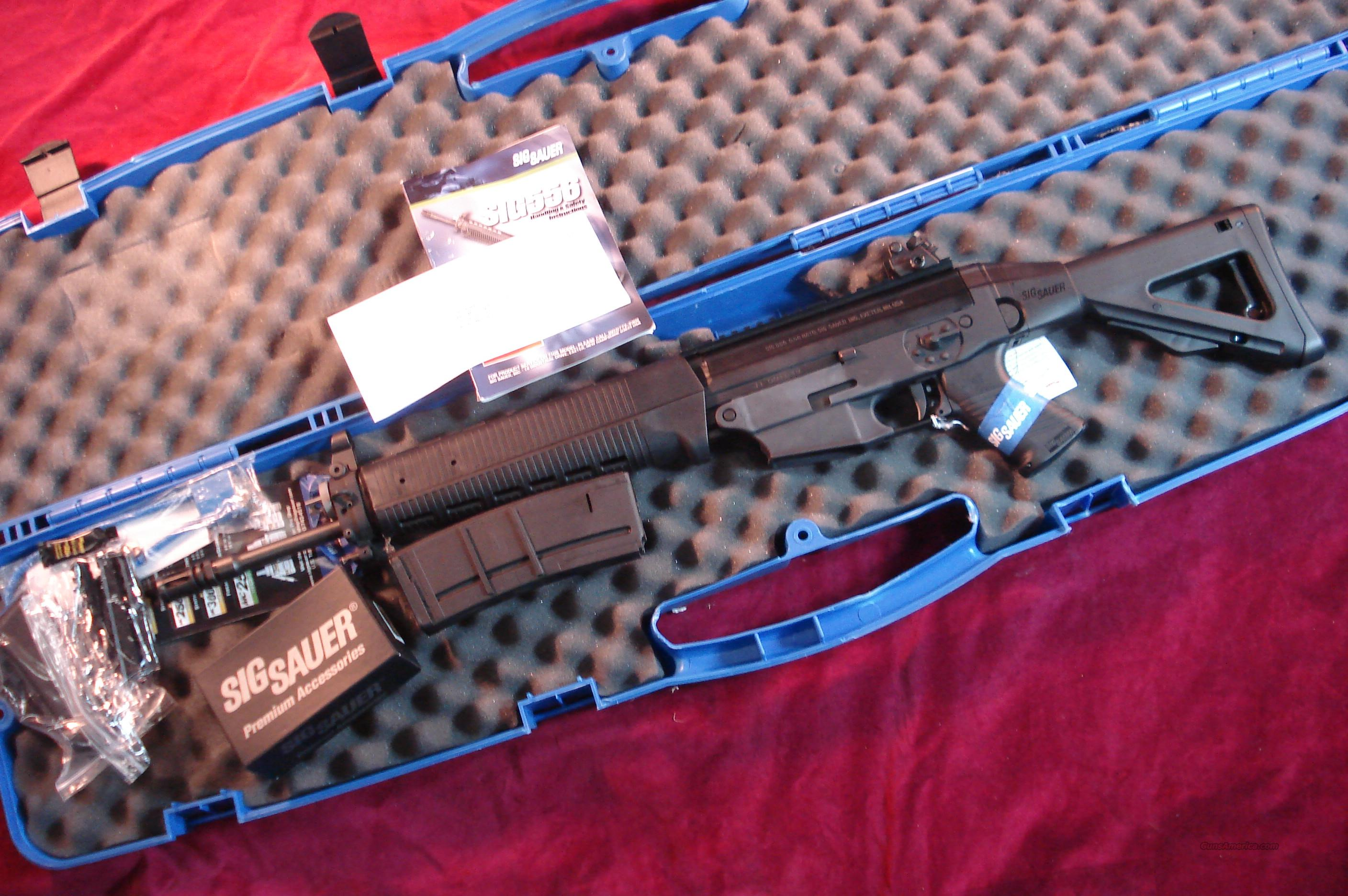 SIG SAUER 556  CARBINE RIFLE WITH ROTOR DIOPTER REAR SIGHT AND SIGS MINI RED DOT NEW  Guns > Rifles > Sig - Sauer/Sigarms Rifles