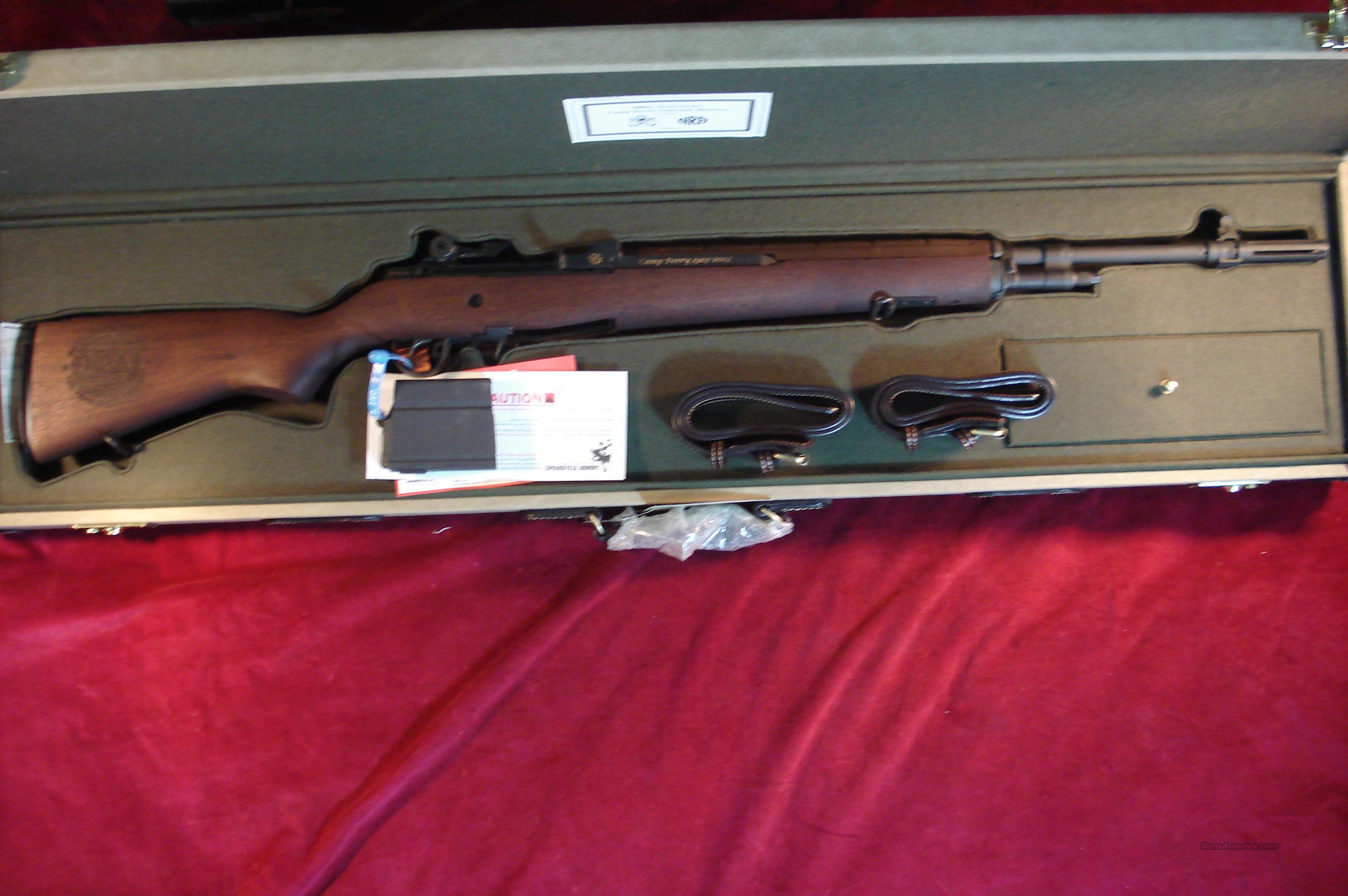 SPRINGFIELD M1A 308 CAL CAMP PERRY COMMEMORATIVE W/ CANVAS DISPLAY CASE NEW  Guns > Rifles > Springfield Armory Rifles > M1A/M14