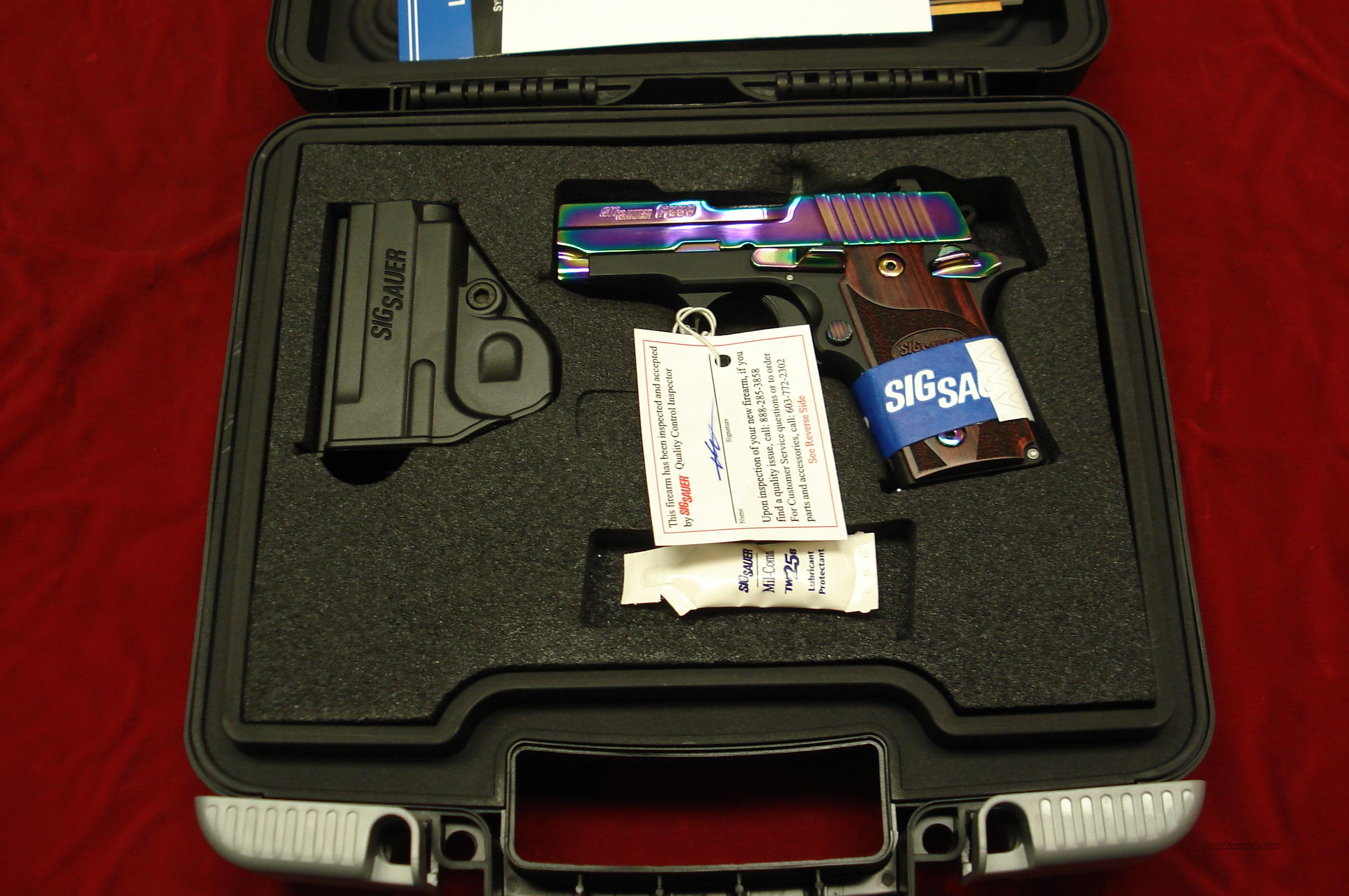 SIG SAUER P238 RAINBOW TITANIUM WITH NIGHT SIGHTS AND ROSEWOOD GRIPS 380CAL. NEW   Guns > Pistols > Sig - Sauer/Sigarms Pistols > Other