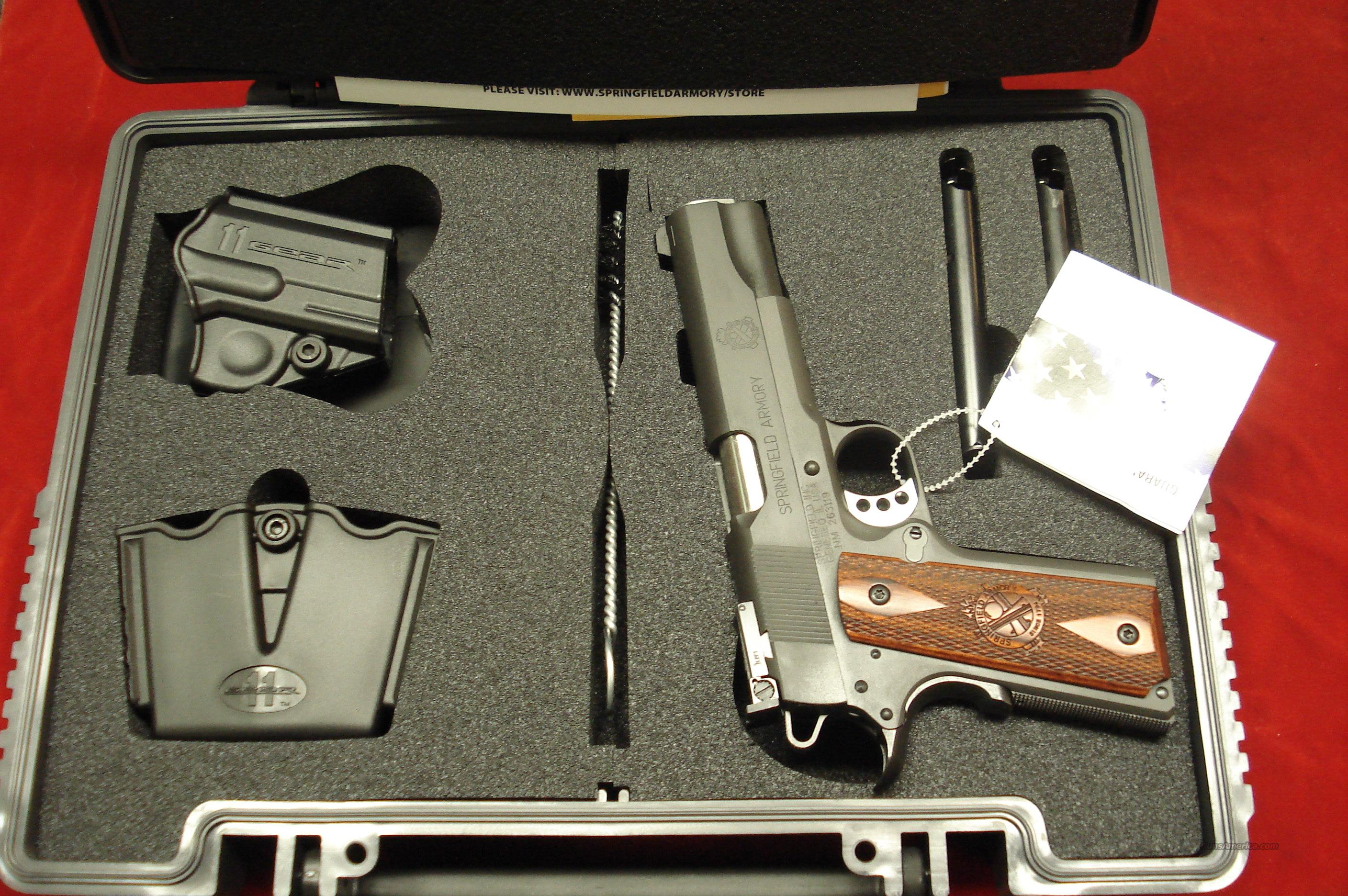 SPRINGFIELD ARMORY RANGE OFFICER PARKERIZED 1911 A1 LOADED ADJUSTABLE TARGET SIGHTS (PI9128LP) NEW   Guns > Pistols > Springfield Armory Pistols > 1911 Type