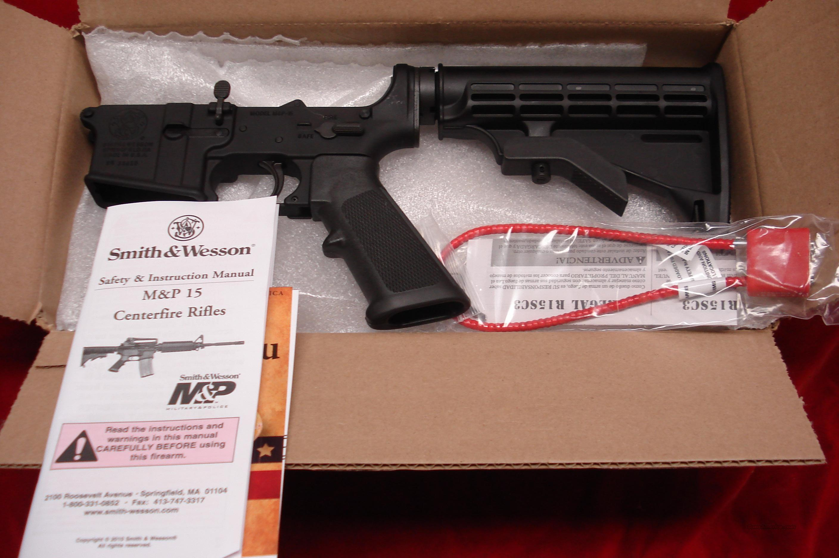 SMITH AND WESSON M&P ASSEMBLED LOWER RECEIVER NEW  Guns > Rifles > Smith & Wesson Rifles > M&P