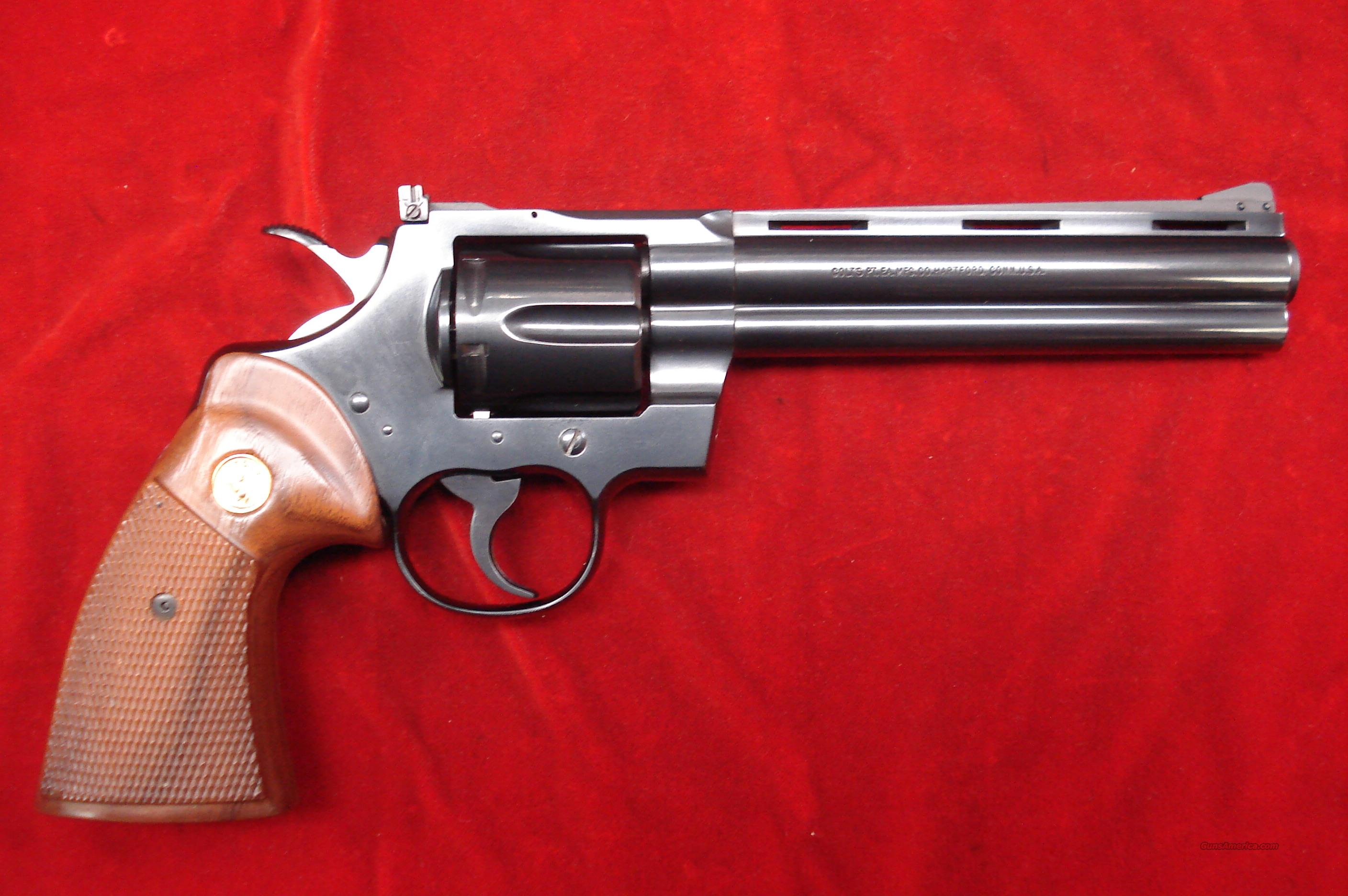 "COLT PYTHON 6"" BLUE FINISH 357 MAGNUM USED  Guns > Pistols > Colt Double Action Revolvers- Modern"