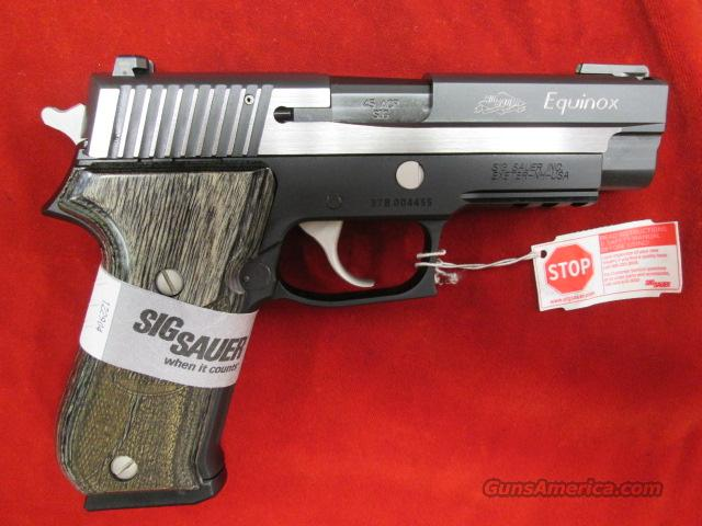 SIG SAUER P220 EQUINOX 45CAL STAINLESS TWO TONE WITH NIGHT SIGHTS  NEW   Guns > Pistols > Sig - Sauer/Sigarms Pistols > P220