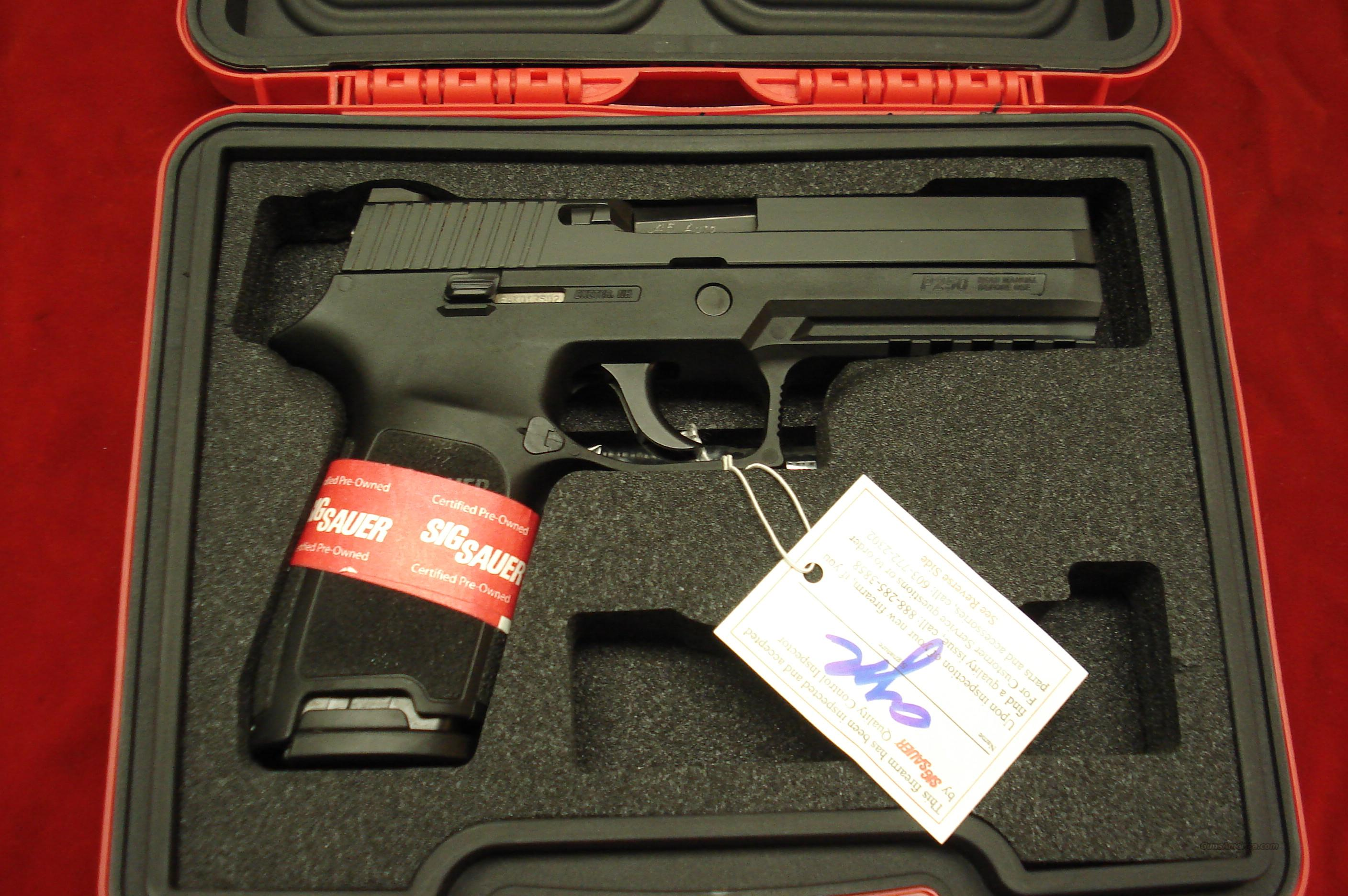 SIG P250 45ACP  W/NIGHT SIGHTS CERTIFIED PREOWNED   Guns > Pistols > Sig - Sauer/Sigarms Pistols > P250