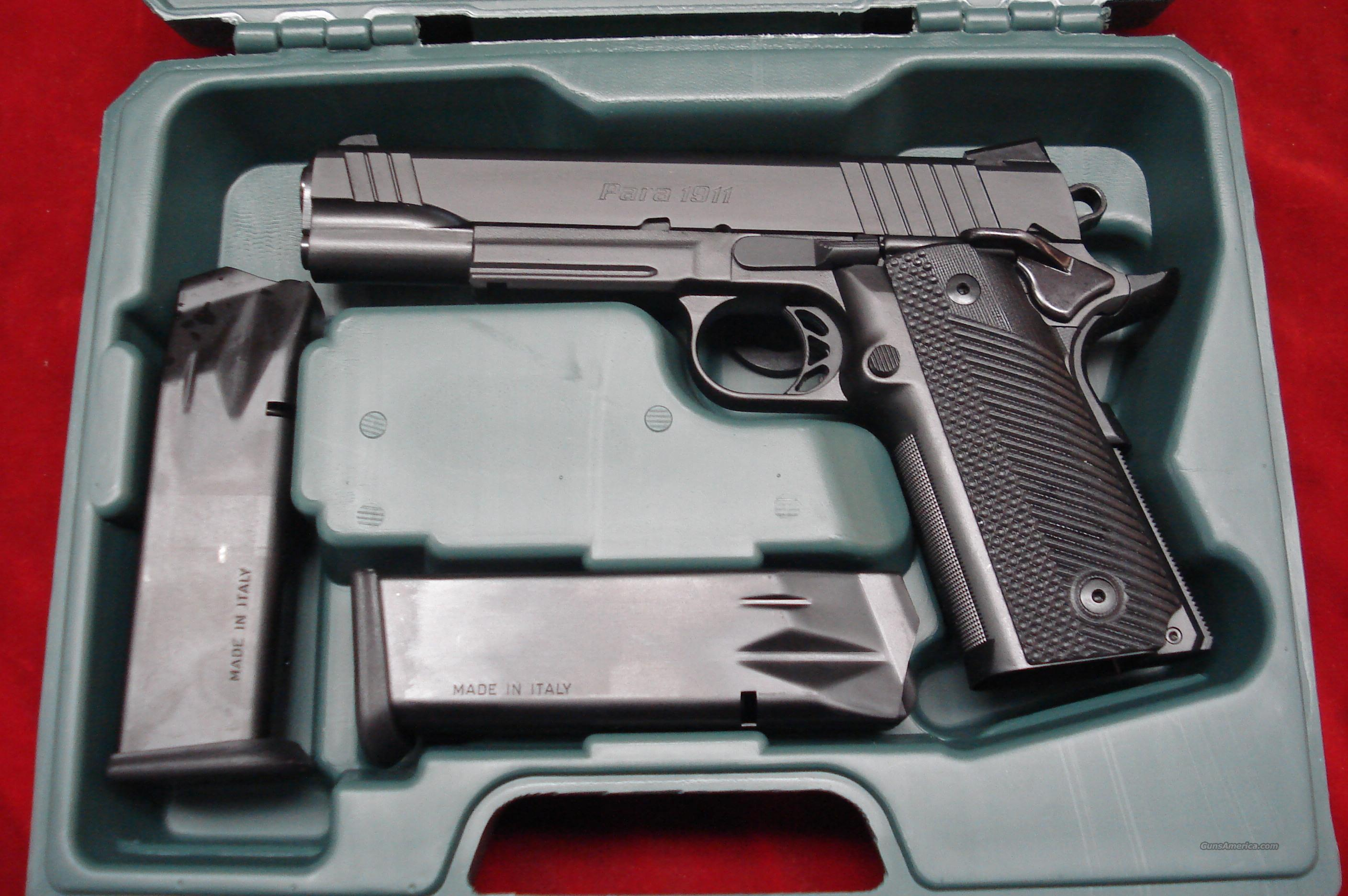 PARA ORDNANCE BLACK OPS 14-45 STAINLESS BLACK IONBOND FINISH HIGH CAPACITY 1911 .45 ACP CAL WITH TAC RAIL AND NIGHT SIGHTS NEW  Guns > Pistols > Para Ordnance Pistols
