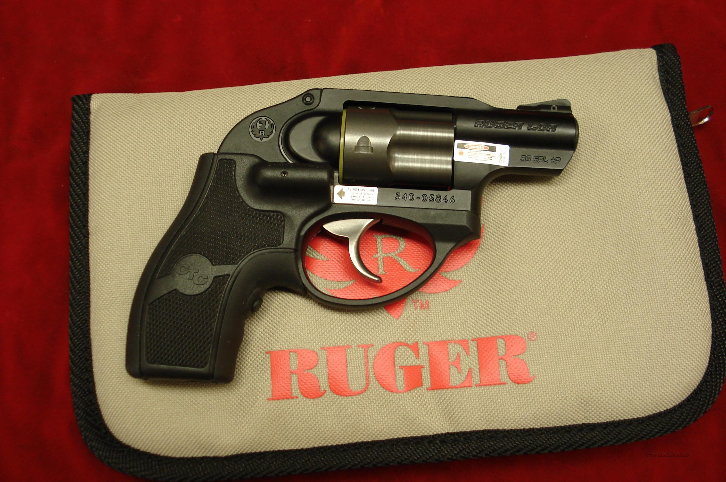 RUGER LCR 38SPL.+P W/LASER GRIP NEW   Guns > Pistols > Ruger Double Action Revolver > SP101 Type