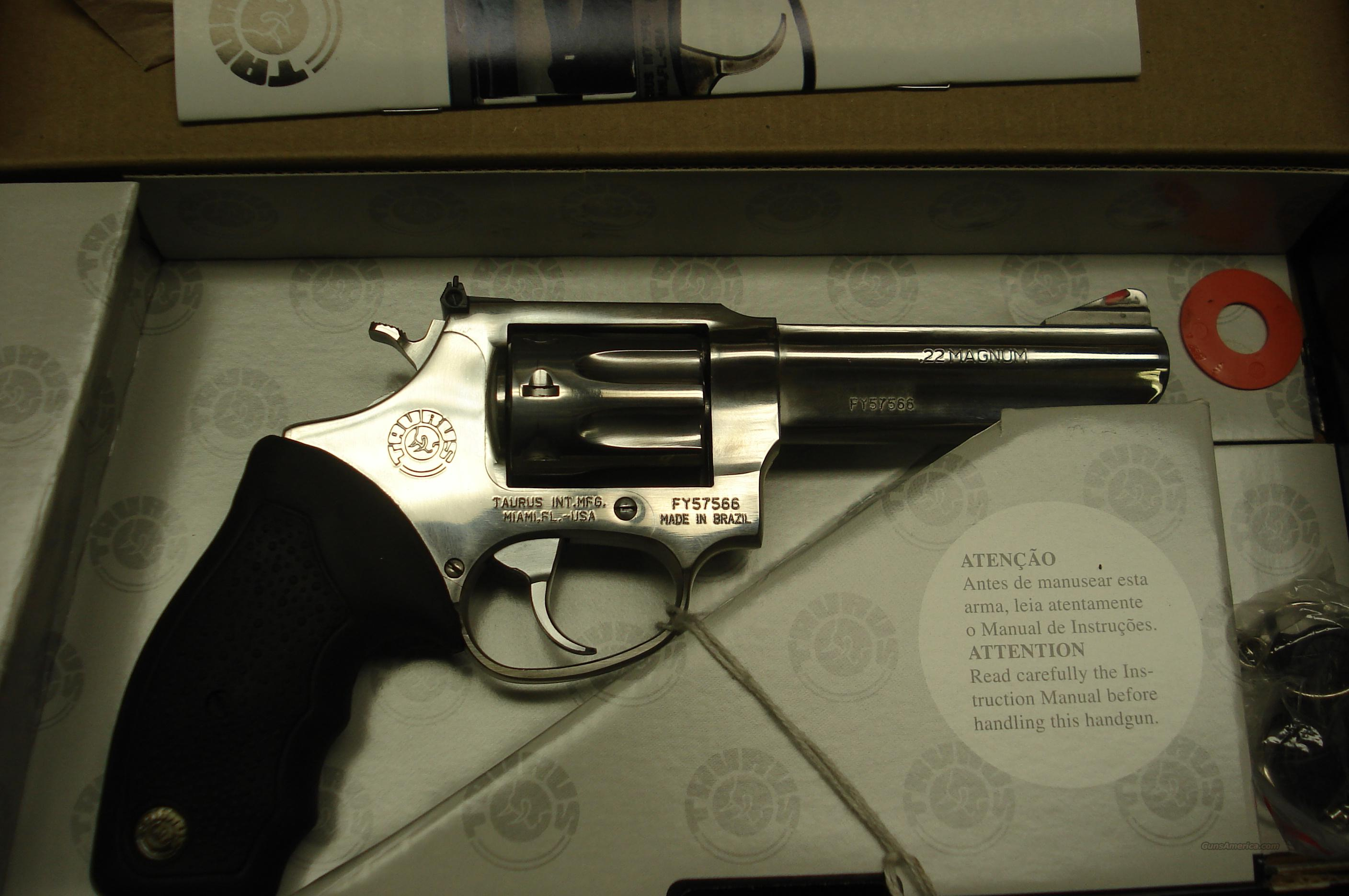 "TAURUS MODEL 941 POLISHED STAINLESS 4"" 22MAGNUM 8 SHOT NEW  Guns > Pistols > Taurus Pistols/Revolvers > Revolvers"