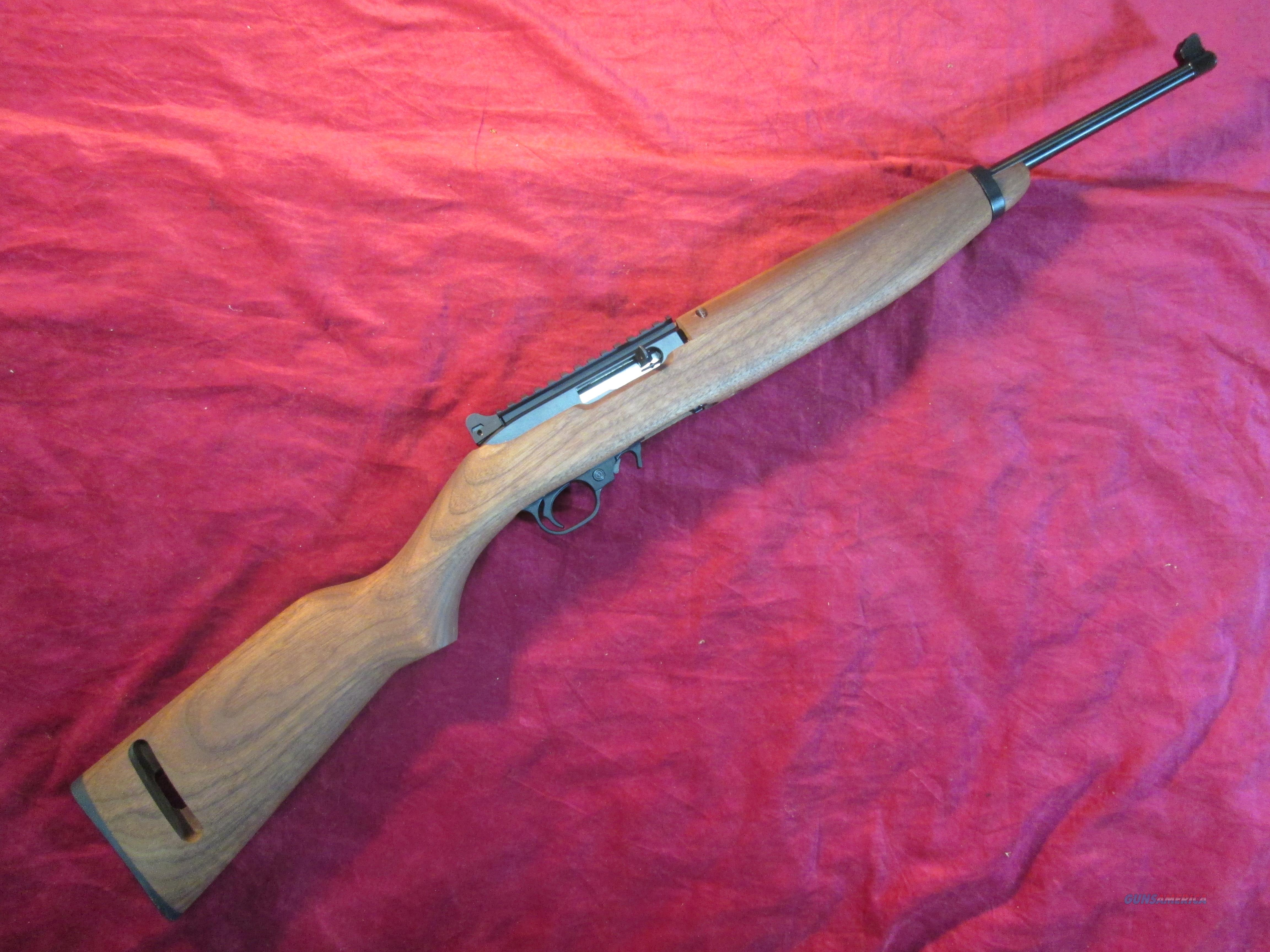 RUGER 10/22 M1 CARBINE 22LR W/ PEEP SIGHT AND RAIL NEW (21138)  Guns > Rifles > Ruger Rifles > 10-22