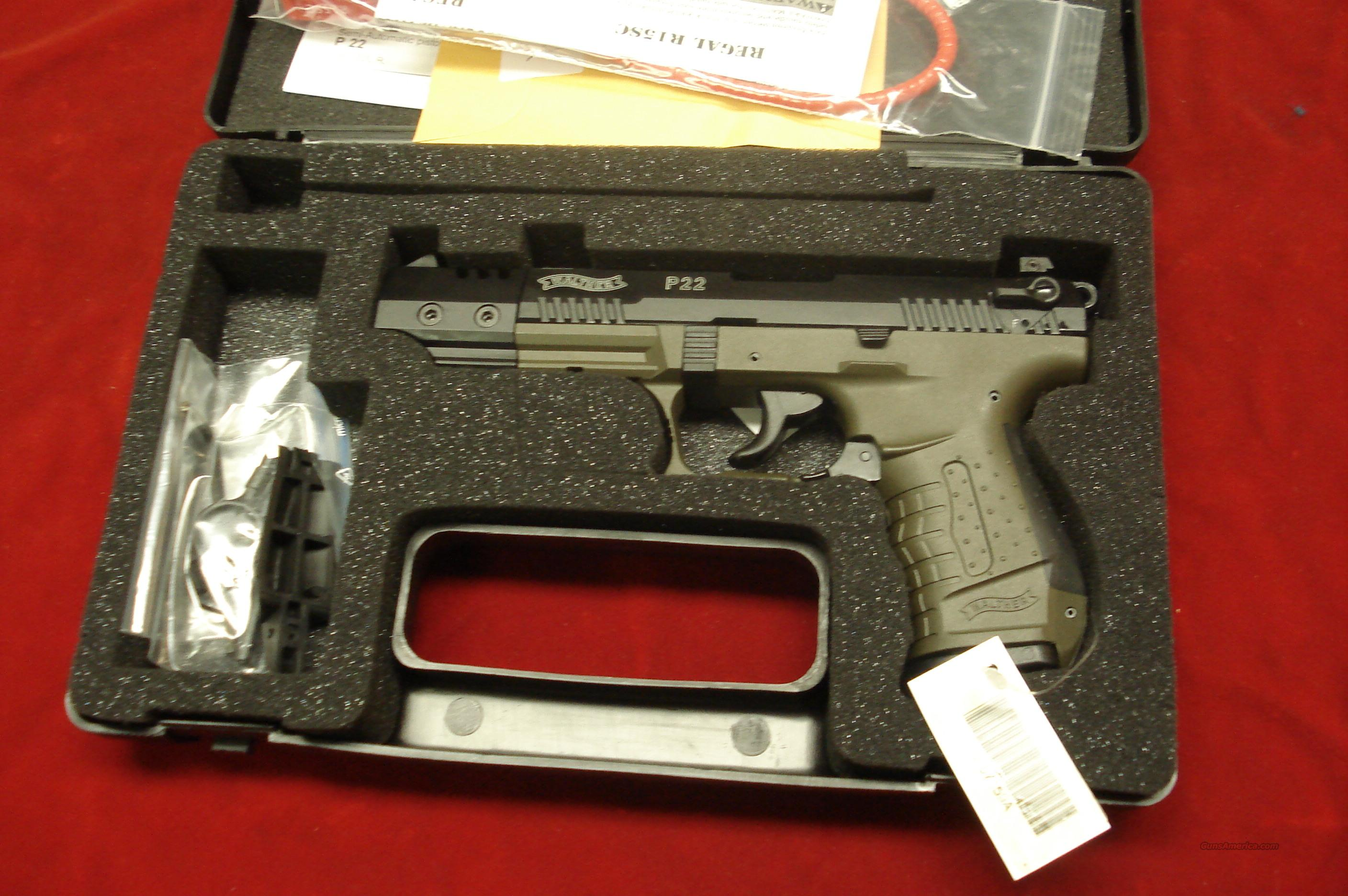 "WALTHER P22 5"" OD GREEN NEW (CALIFORNIA COMPLIANT)  Guns > Pistols > Walther Pistols > Post WWII > P22"