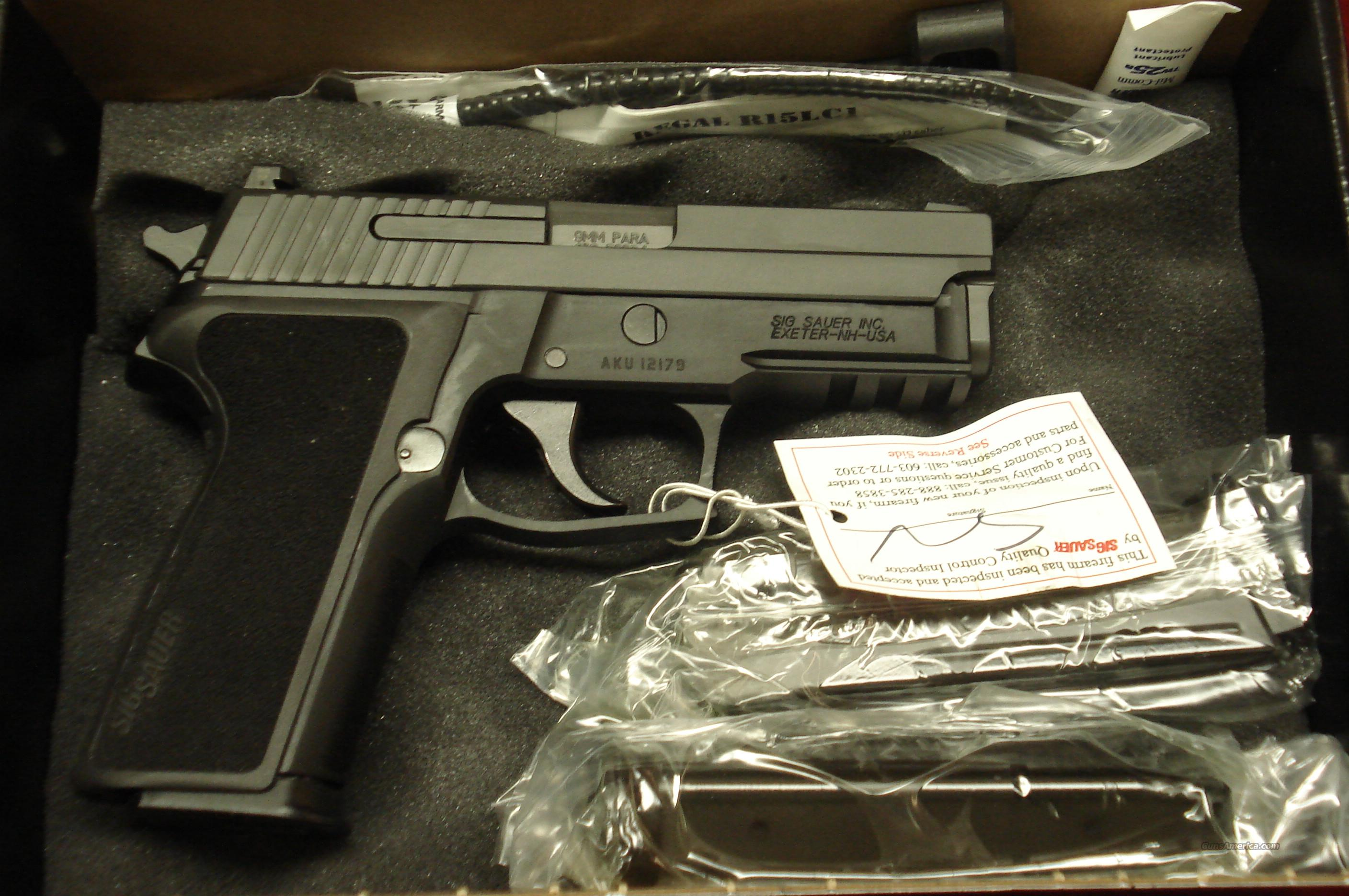 SIG SAUER P229 9MM WITH NIGHT SIGHTS AND 3 HIGH CAPACITY MAGAZINES NEW   Guns > Pistols > Sig - Sauer/Sigarms Pistols > P229