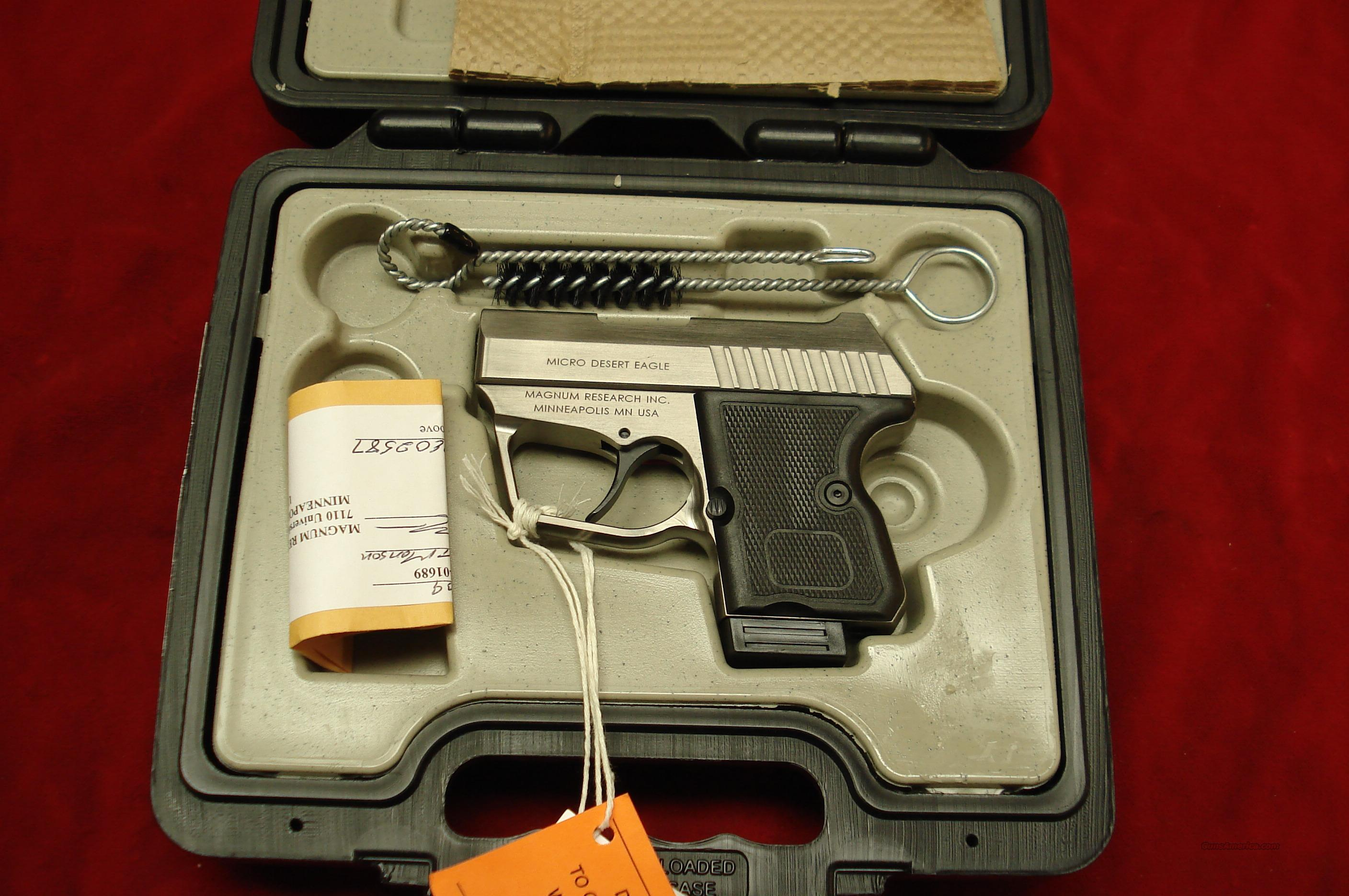 MAGNUM RESEARCH MICRO DESEART EAGLE  380CAL. NEW  Guns > Pistols > Magnum Research Pistols