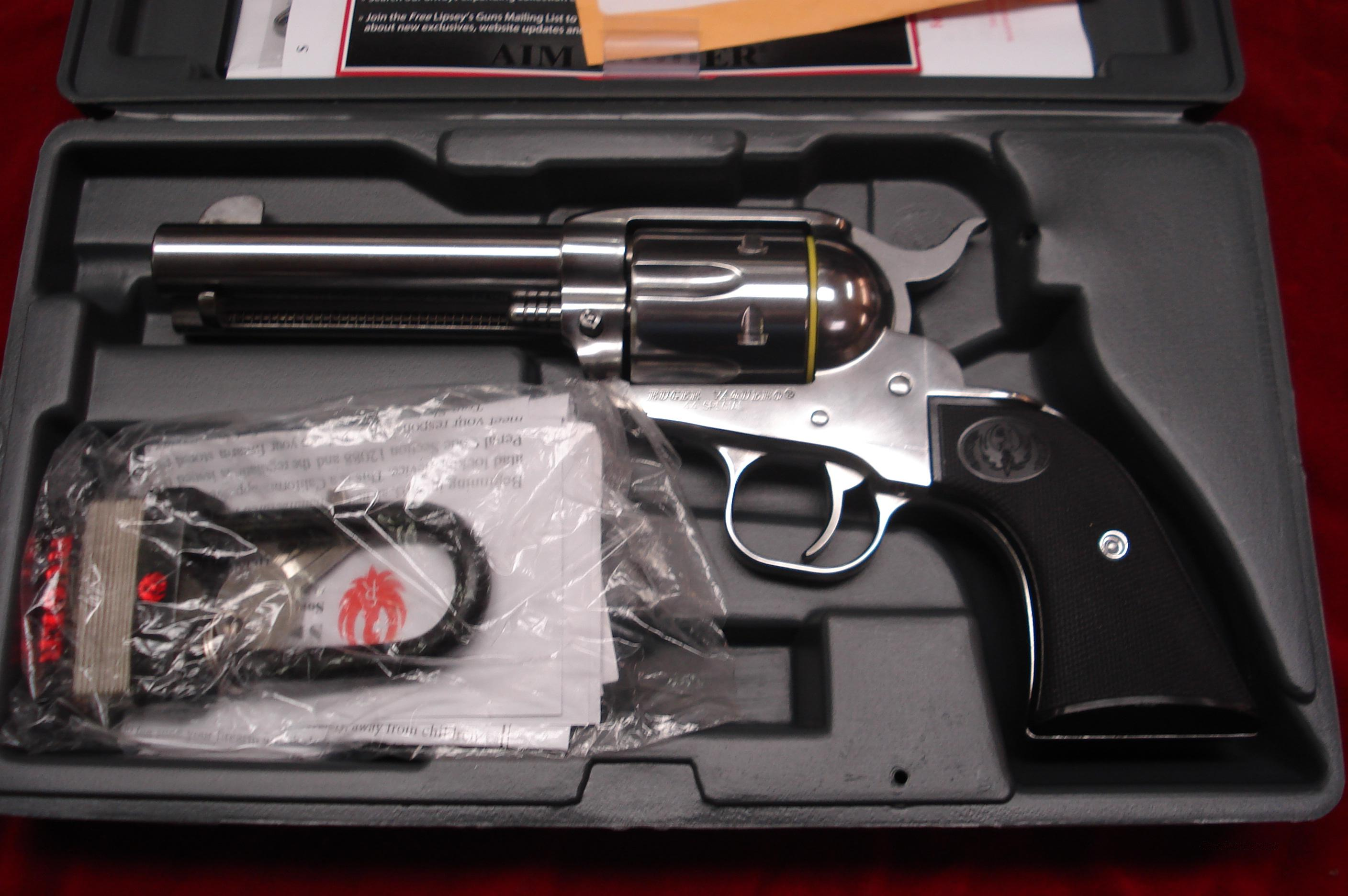 "RUGER STAINLESS VAQUERO  44 SPECIAL 4 5/8"" NEW (KNV-44S)  Guns > Pistols > Ruger Single Action Revolvers > Cowboy Action"