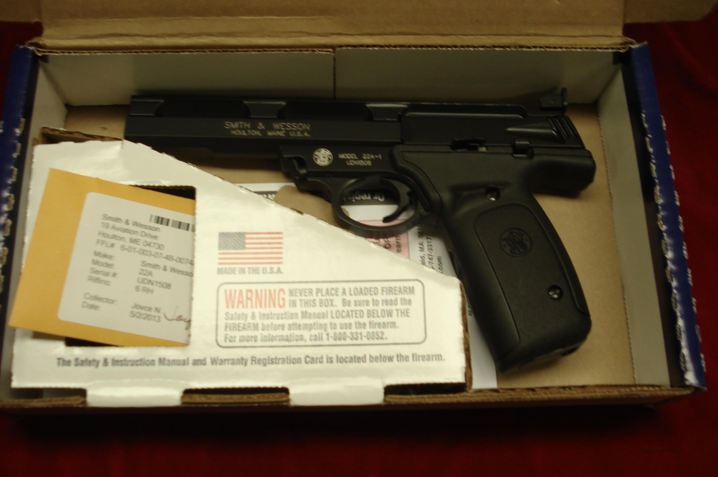 "SMITH AND WESSON 22A  22LR. 5.5"" SLAB SIDE BARREL  NEW  Guns > Pistols > Smith & Wesson Pistols - Autos > .22 Autos"