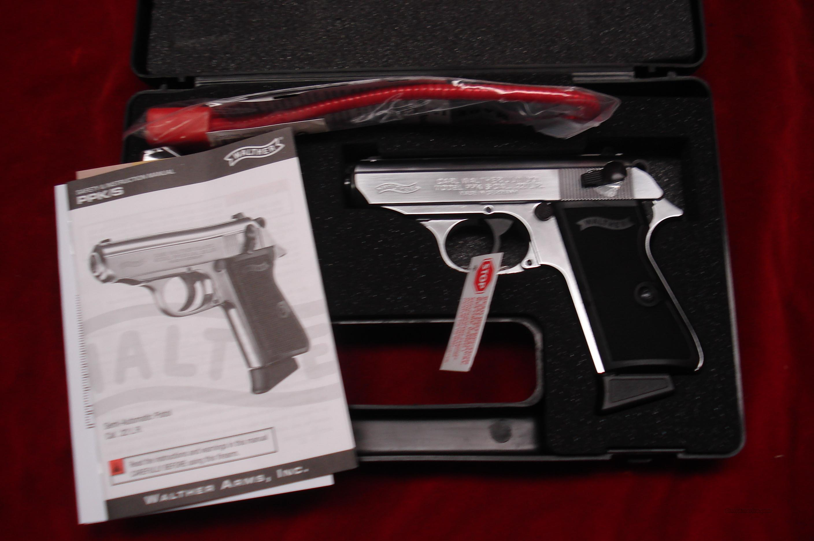 WALTHER PPK/S 22CAL. NICKEL NEW   Guns > Pistols > Walther Pistols > Post WWII > PPK Series