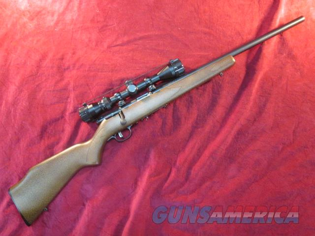 SAVAGE 17HMR ACCUTRIGGER HEAVEY BARREL WOOD STOCK SCOPE PACKAGE LNIB USED  Guns > Rifles > Savage Rifles > Rimfire