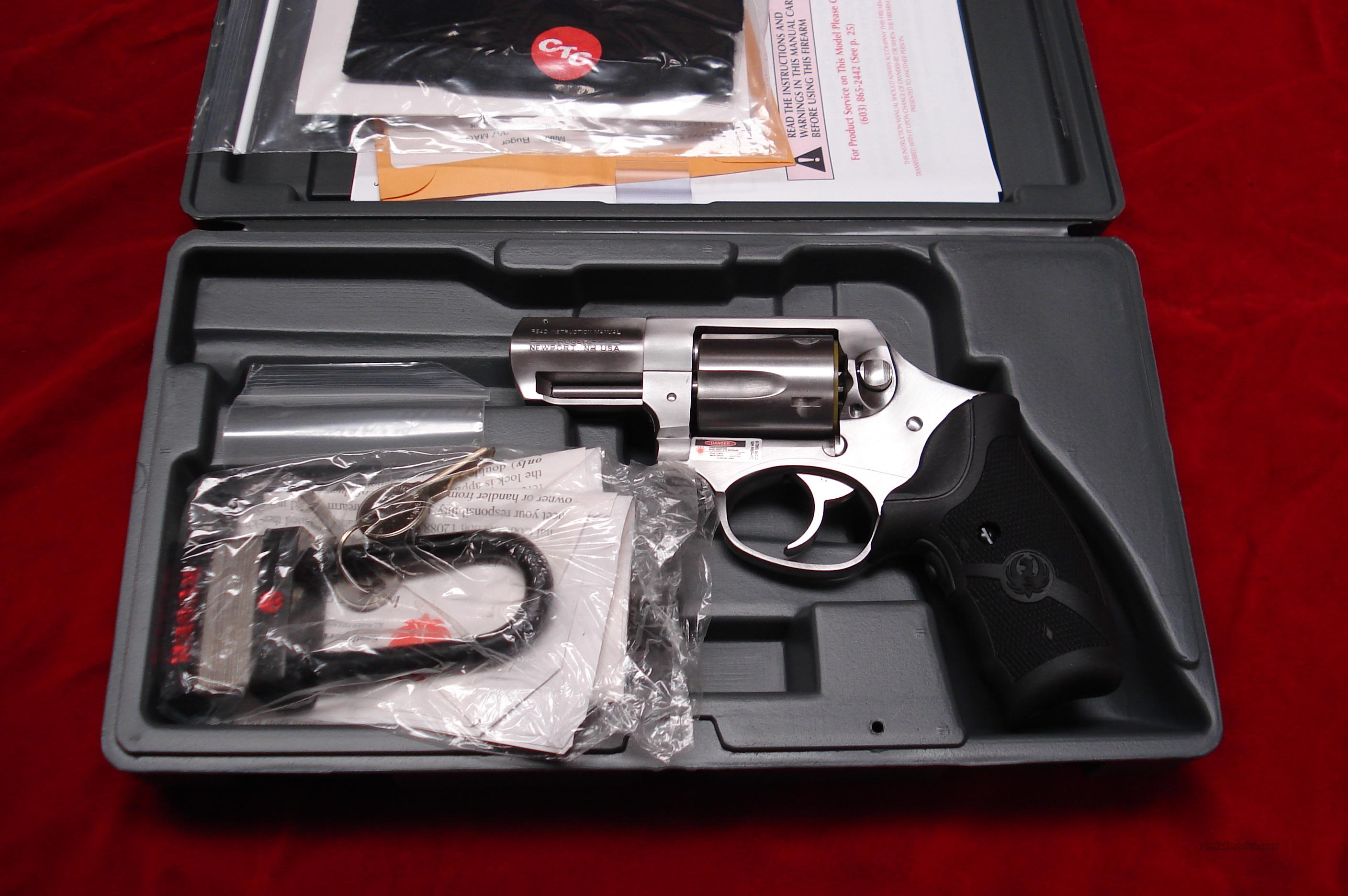 RUGER NEW SP101 357CAL. W/CRIMSON TRACE LASER GRIPS NEW   (KSP-321XL-LG)  Guns > Pistols > Ruger Double Action Revolver > SP101 Type