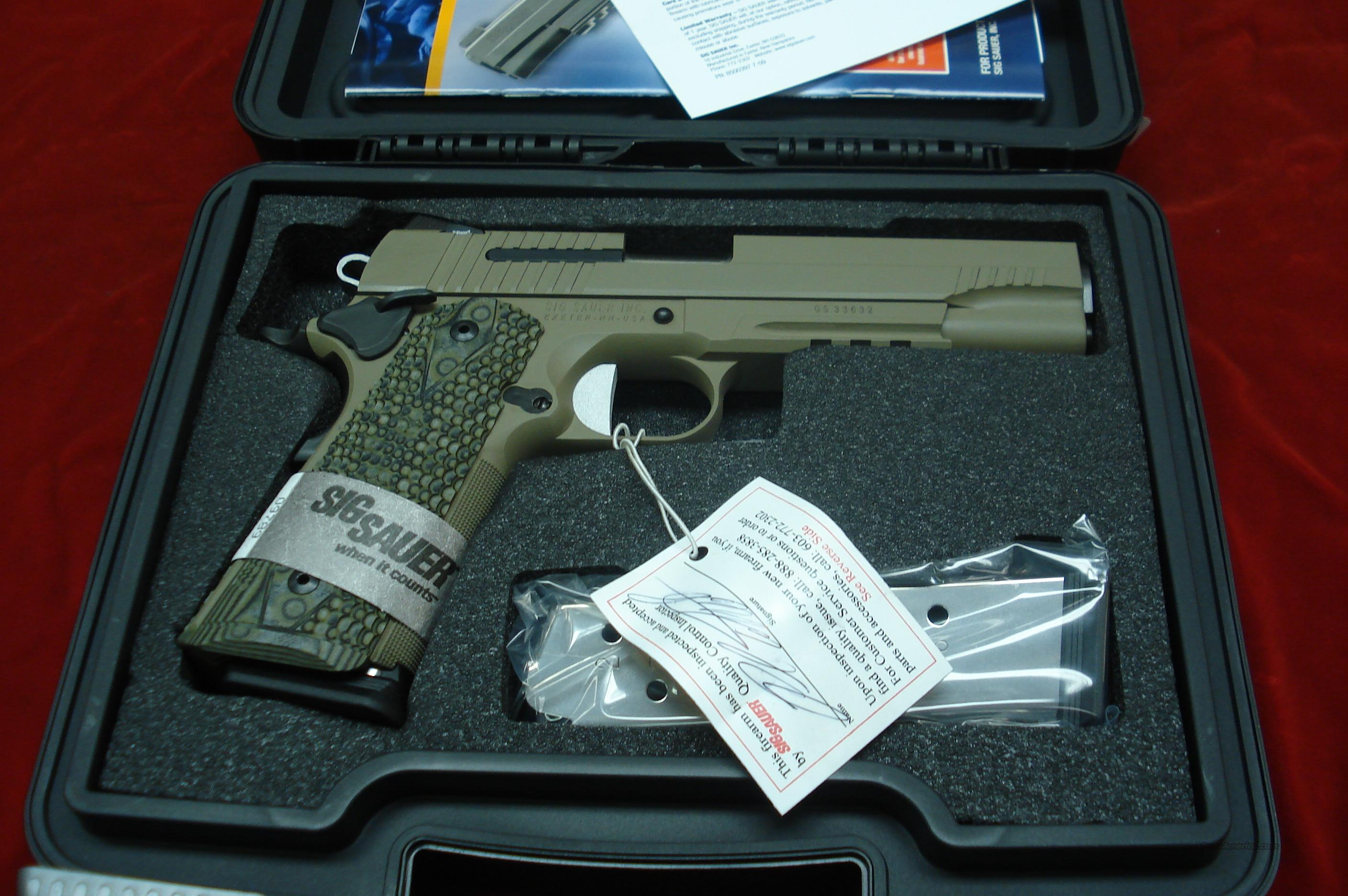 SIG SAUER 1911 SCORPION FLAT DARK EARTH WITH TAC RAIL AND NIGHT SIGHTS NEW  Guns > Pistols > Sig - Sauer/Sigarms Pistols > 1911