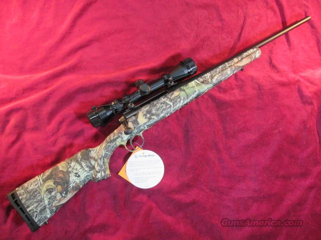 SAVAGE 243 WIN YOUTH W/ 3X9 SCOPE REALTREE XTRA CAMO NEW  Guns > Rifles > Savage Rifles > Standard Bolt Action > Sporting