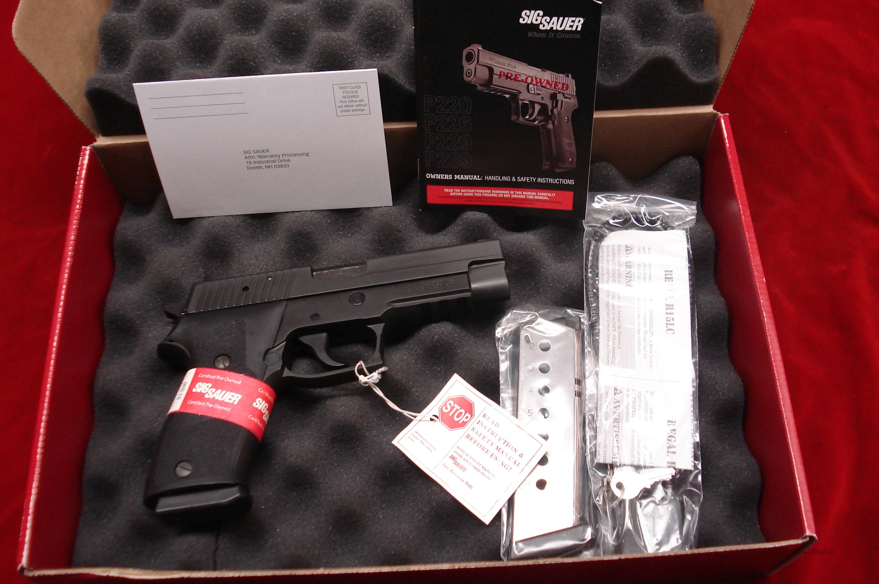 SIG SAUER P220 45ACP DAO TRIGGER W/TAC RAIL CERTIFIED PREOWNED   Guns > Pistols > Sig - Sauer/Sigarms Pistols > P220