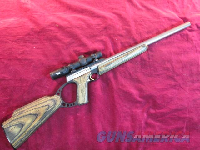 BROWNING BUCKMARK STAINLESS TARGET RIFLE 22LR W/ 4X BURRIS SCOPE USED  Guns > Rifles > Browning Rifles > Semi Auto > Hunting