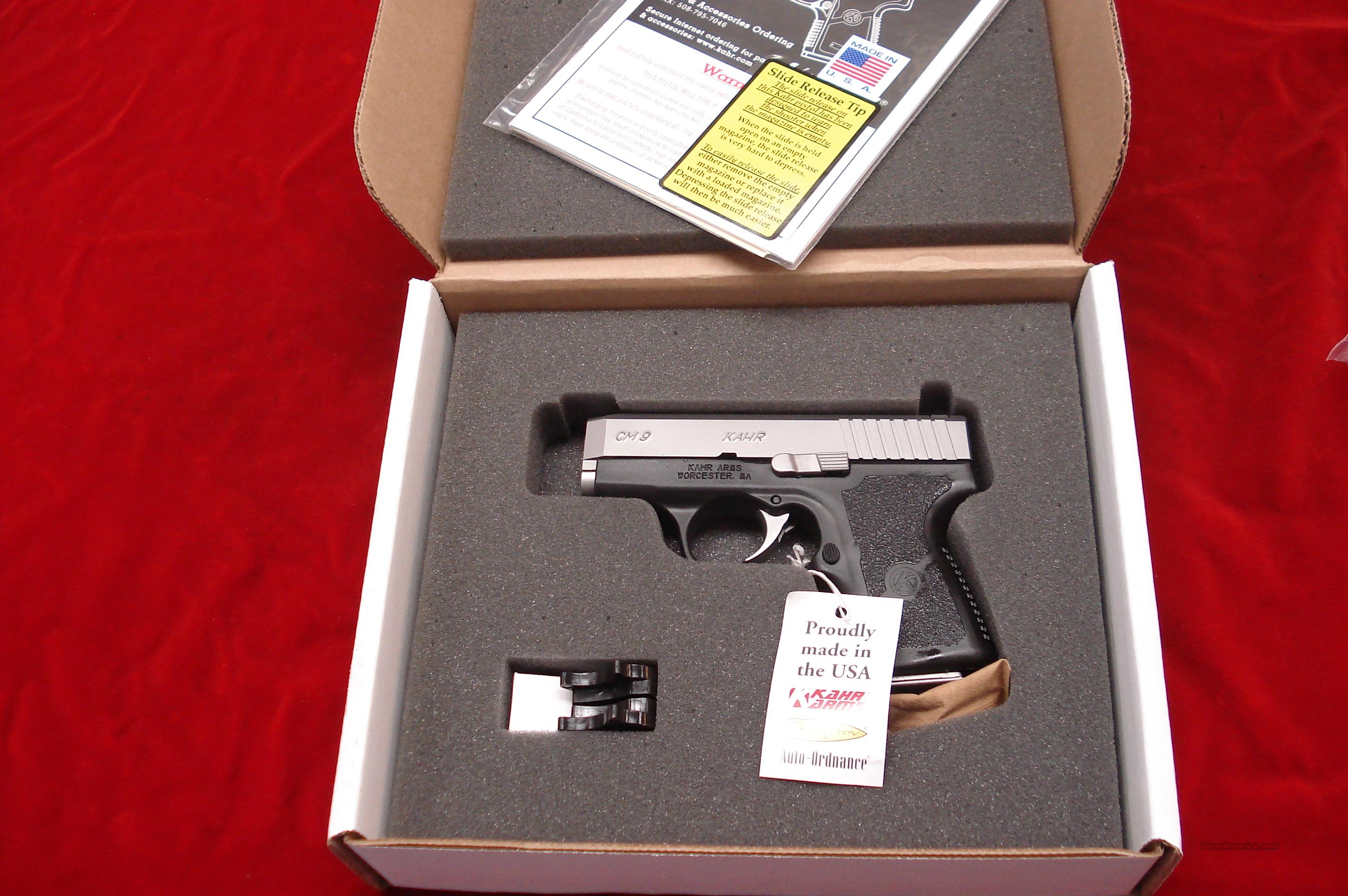KAHR ARMS CM9 9MM STAINLESS NEW  Guns > Pistols > Kahr Pistols