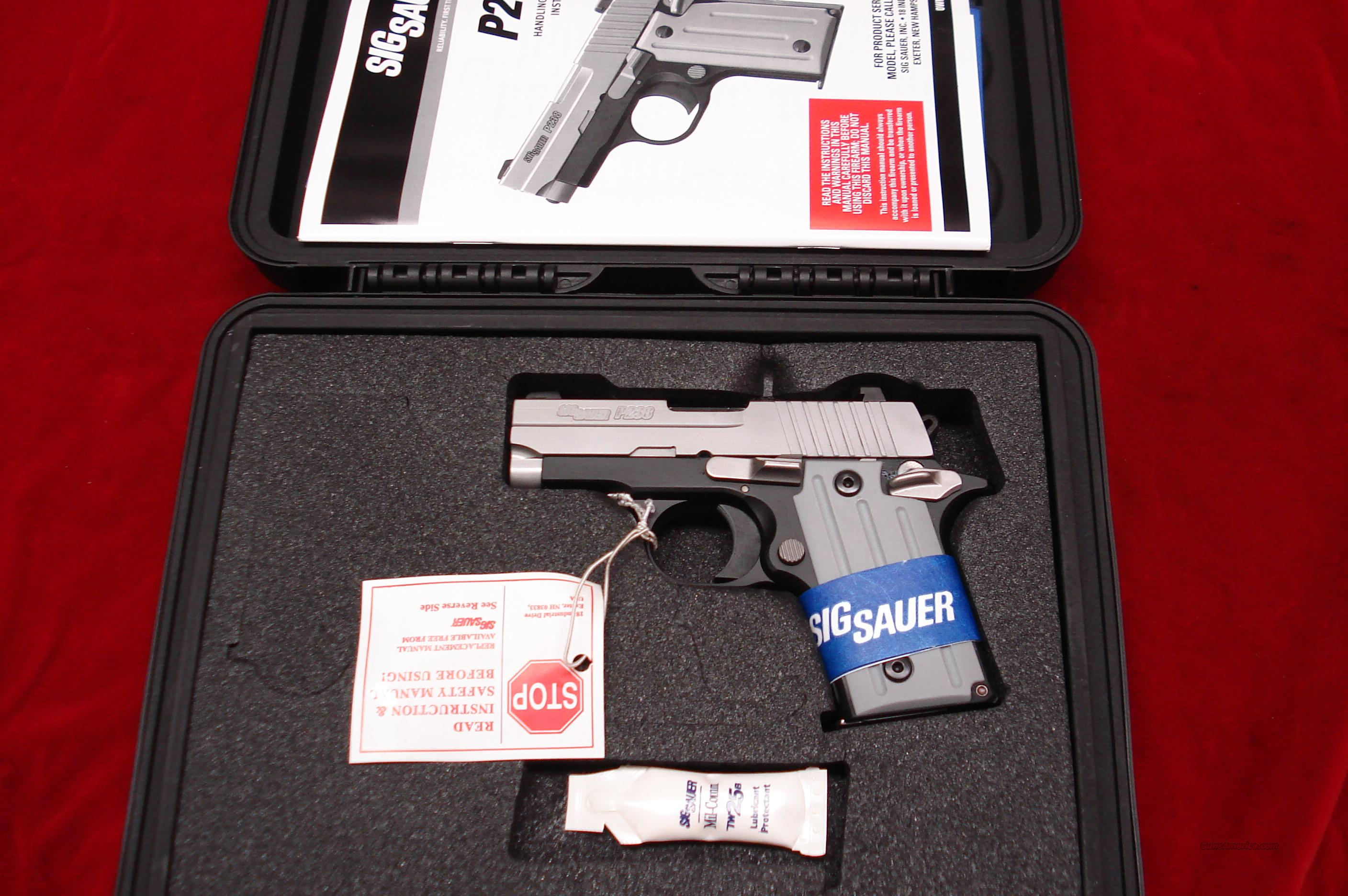 SIG P238 STAINLESS DUO-TONE 380CAL. NIGHT SIGHTS NEW   Guns > Pistols > Sig - Sauer/Sigarms Pistols > Other