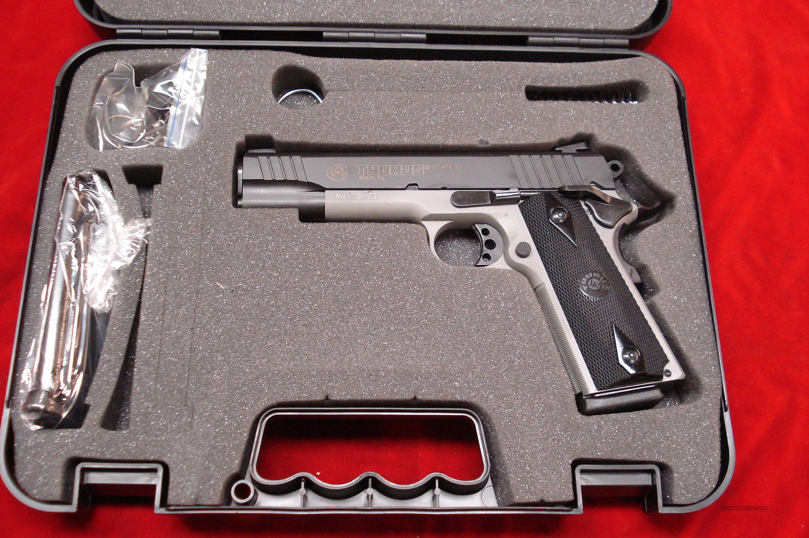 TAURUS 1911 BLUE AND GRAY ALLOY NEW  Guns > Pistols > Taurus Pistols/Revolvers > Pistols > Steel Frame